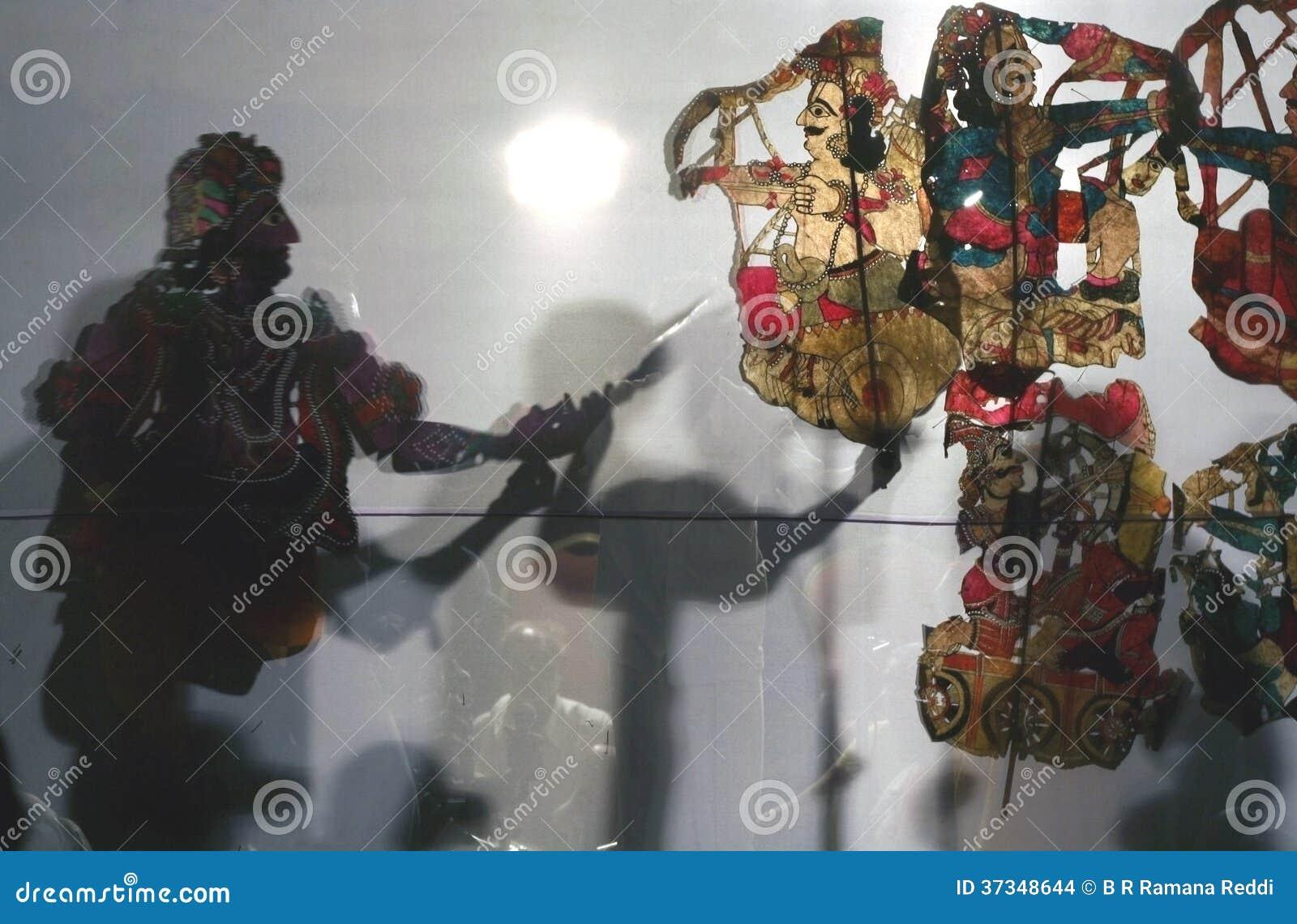 Indisk skuggadockteaterföreställning