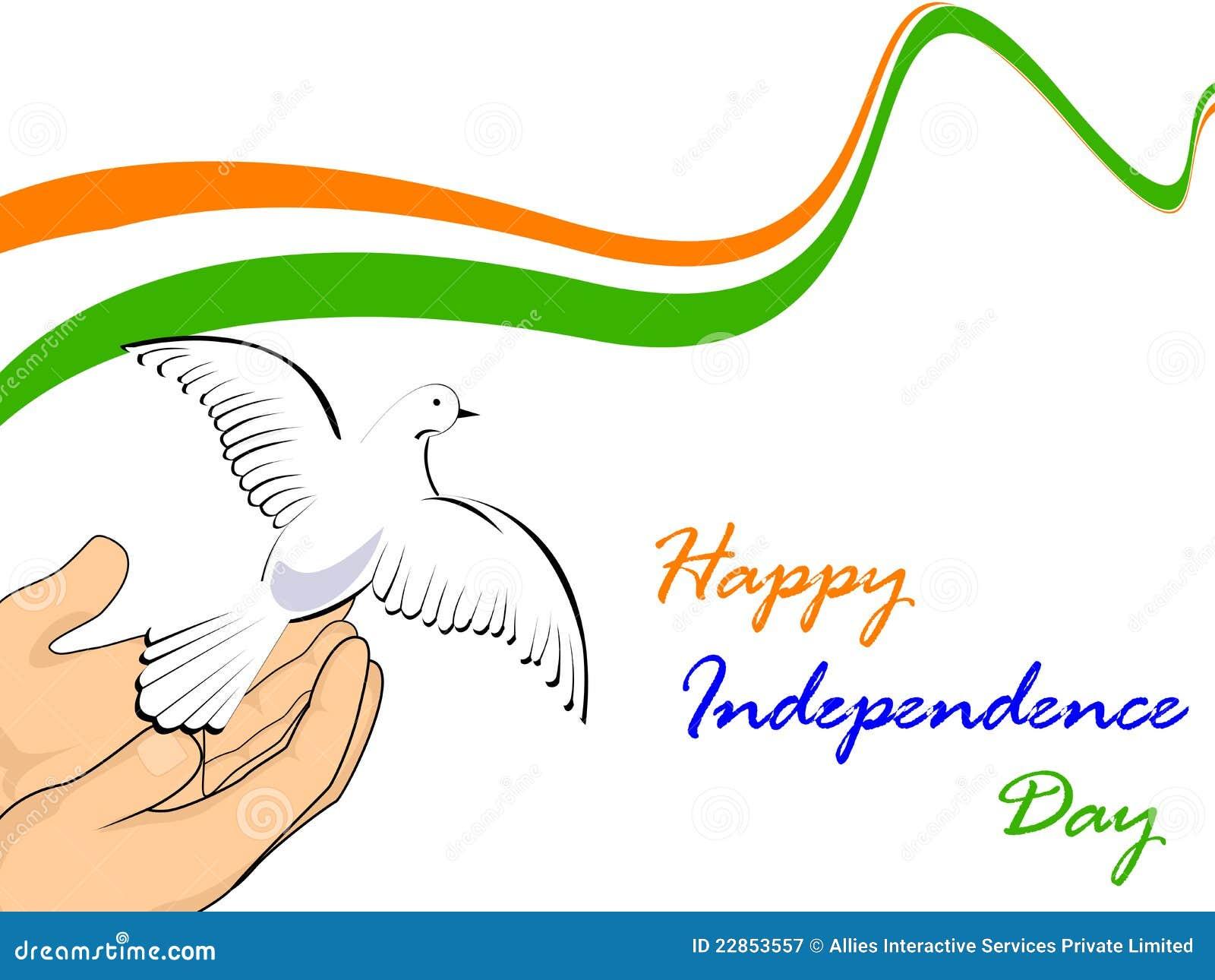 Indiska nationella duvor för flaggaflyg