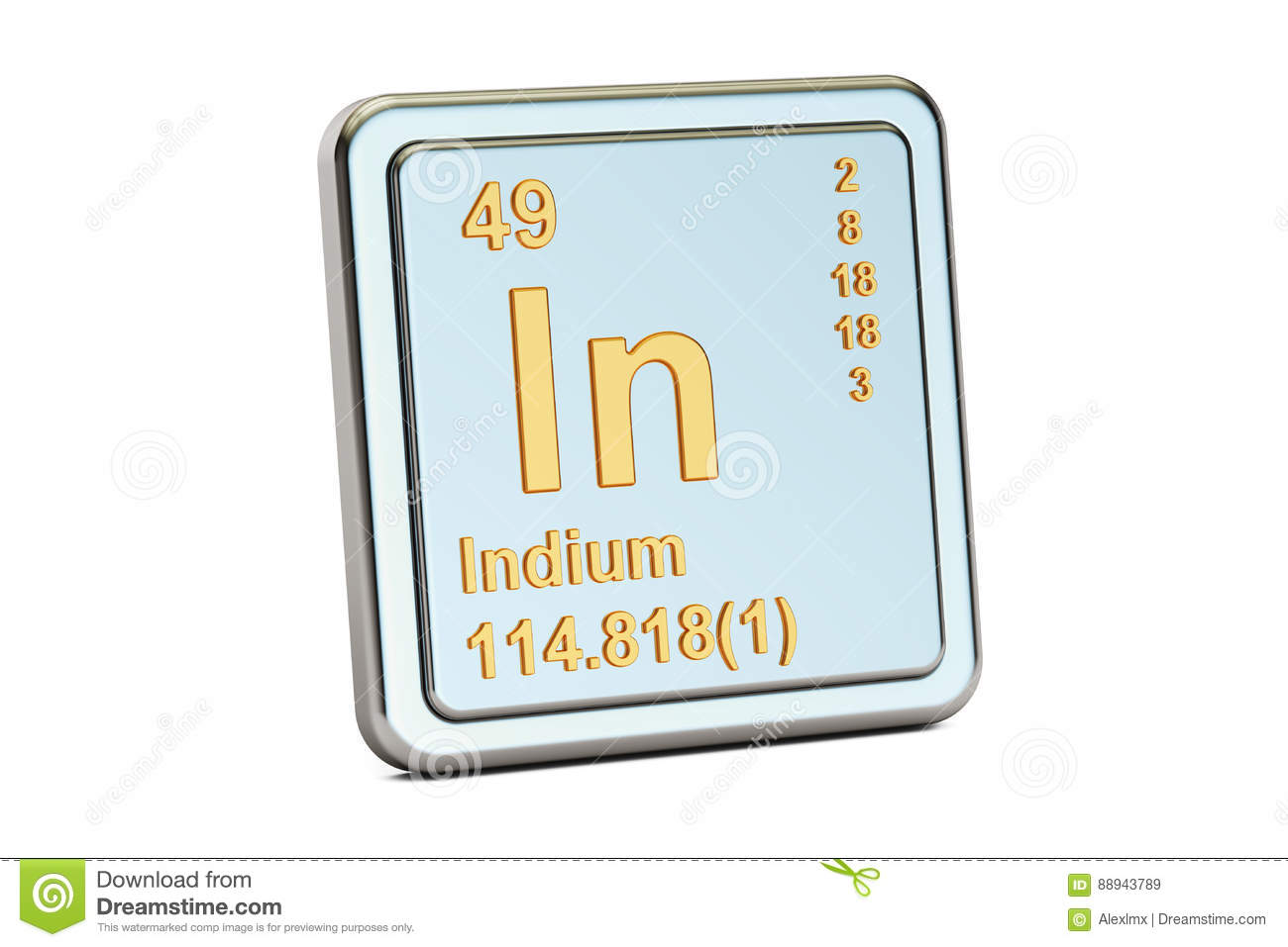 Indium in chemical element sign 3d rendering stock illustration indium in chemical element sign 3d rendering biocorpaavc Images