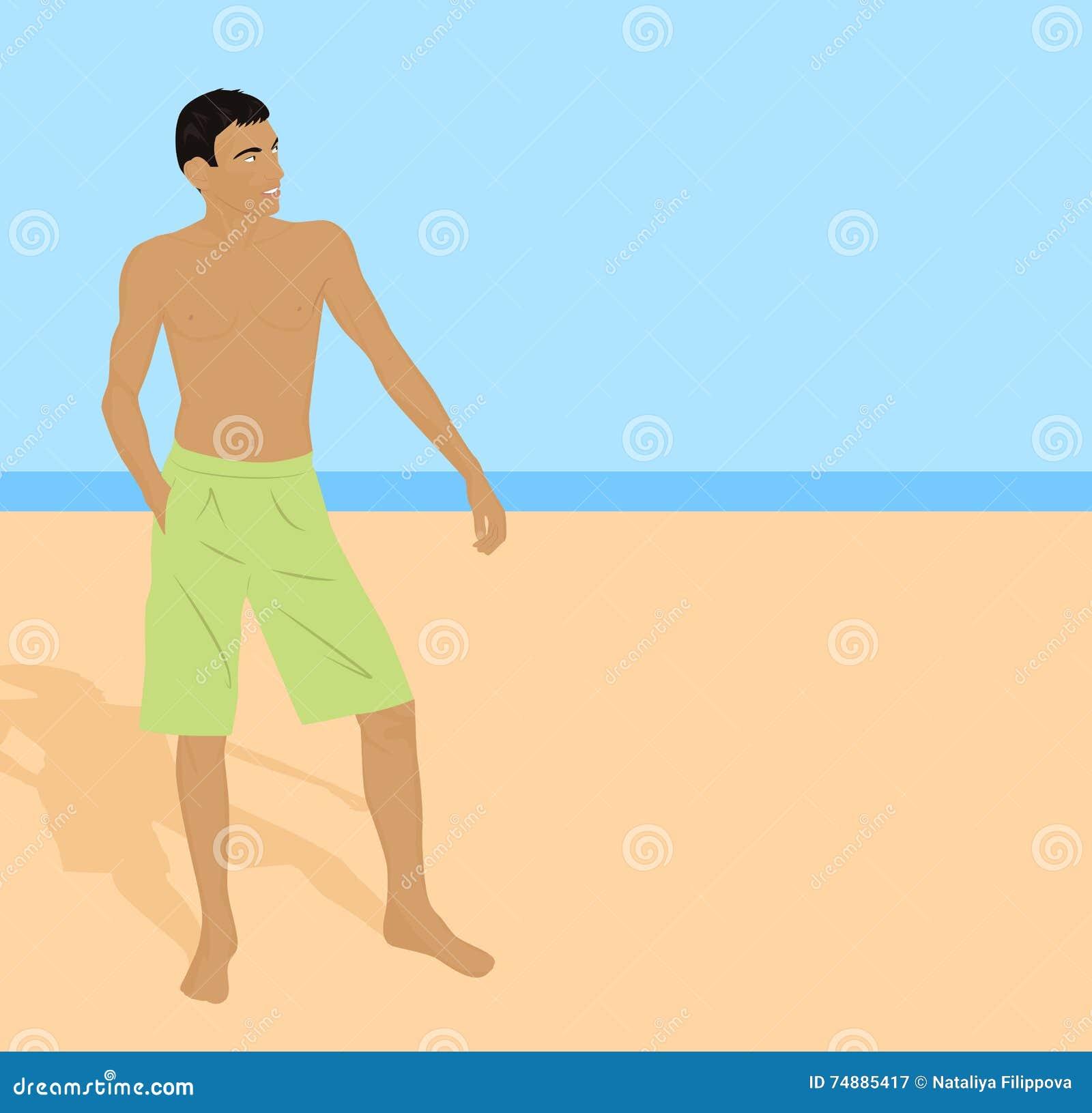Indivíduo na praia