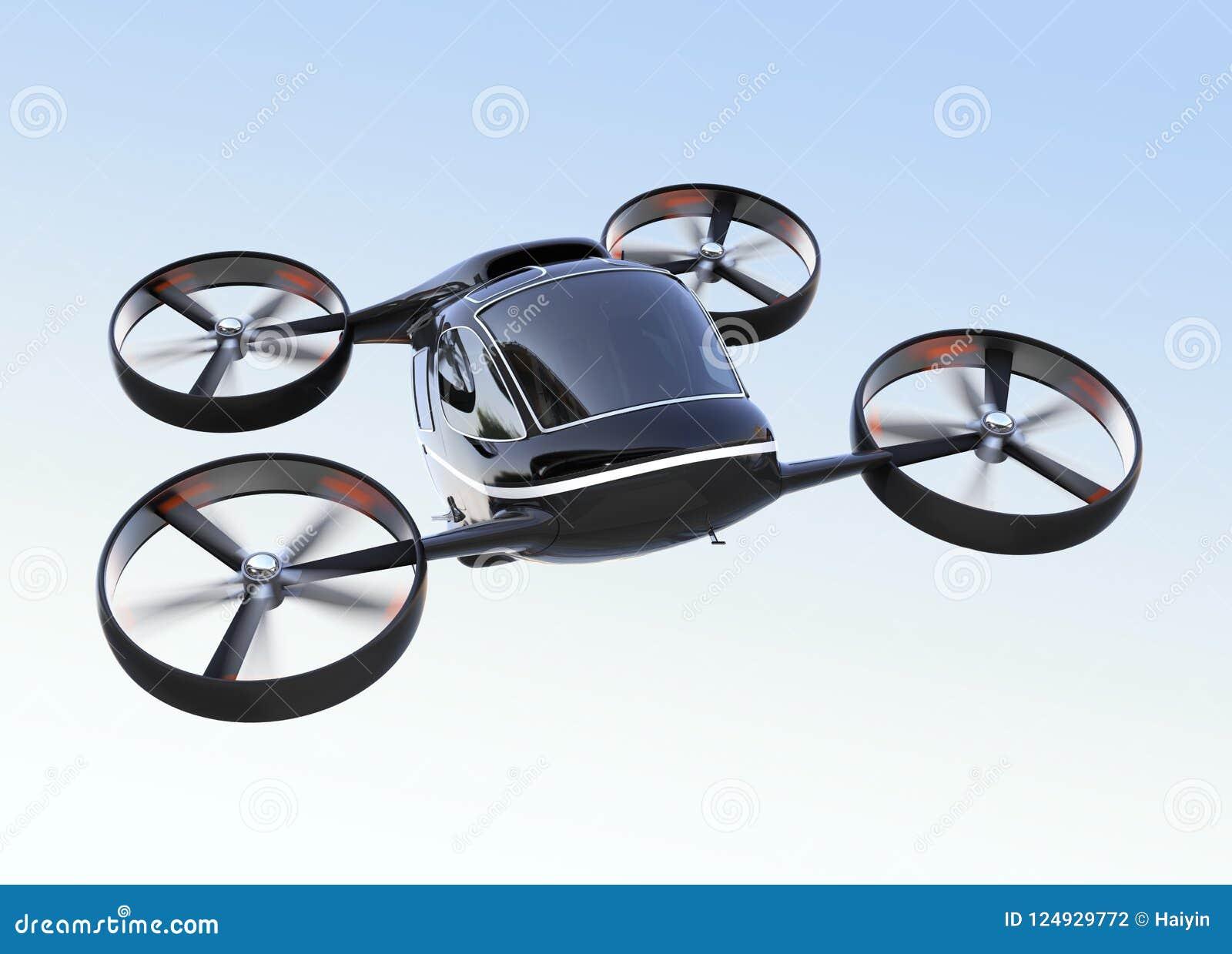 Individu conduisant le vol de bourdon de passager dans le ciel