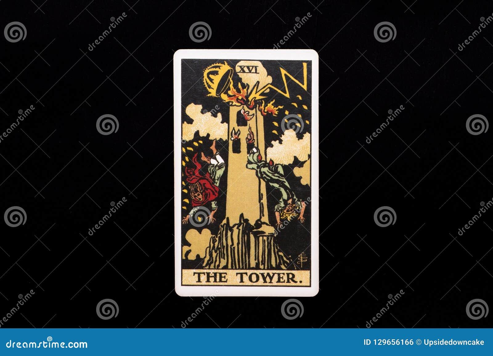 An Individual Major Arcana Tarot Card Isolated On Black