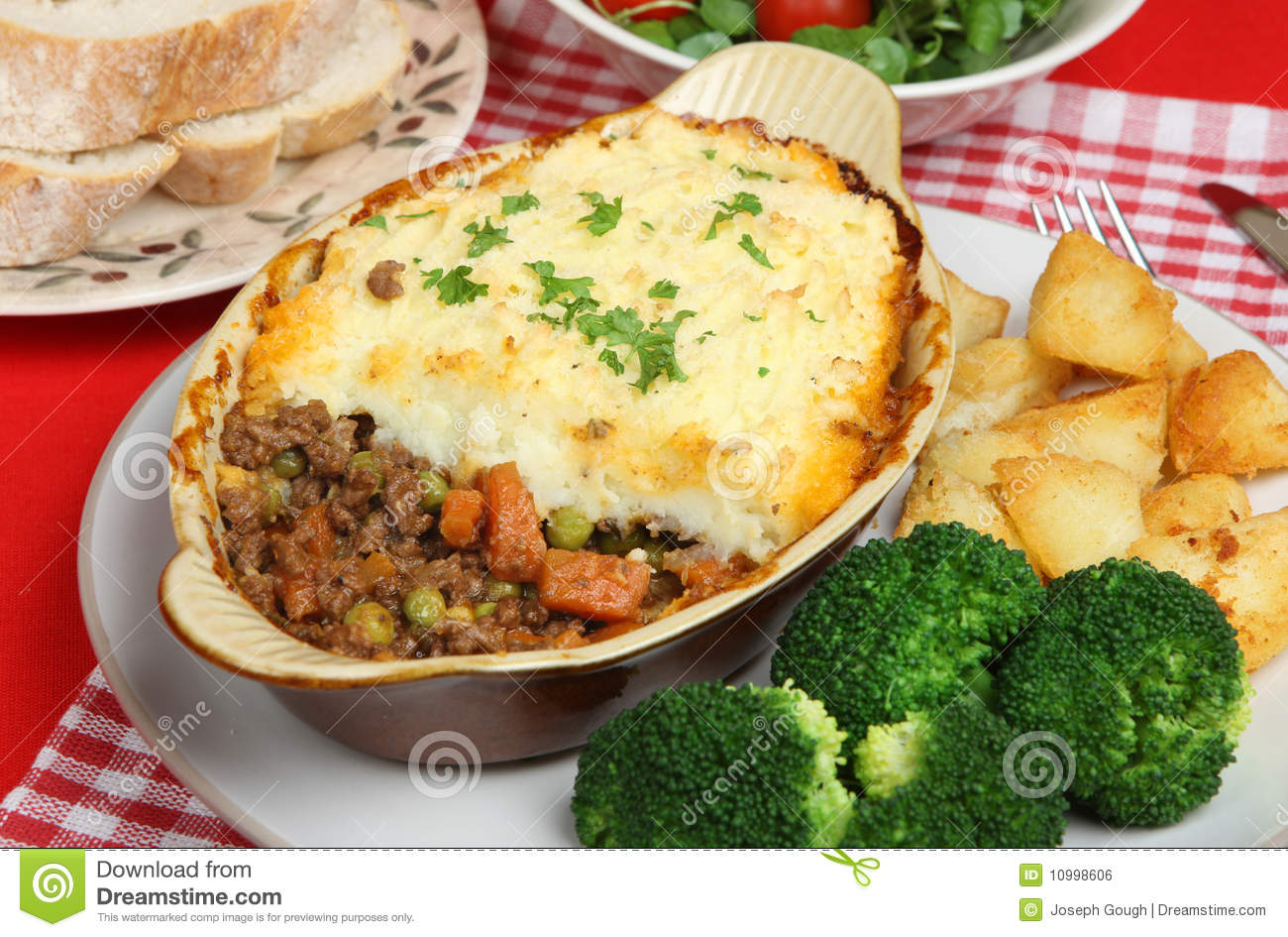 Individual Shepherds Pie Stock Photo Image Of Dinner