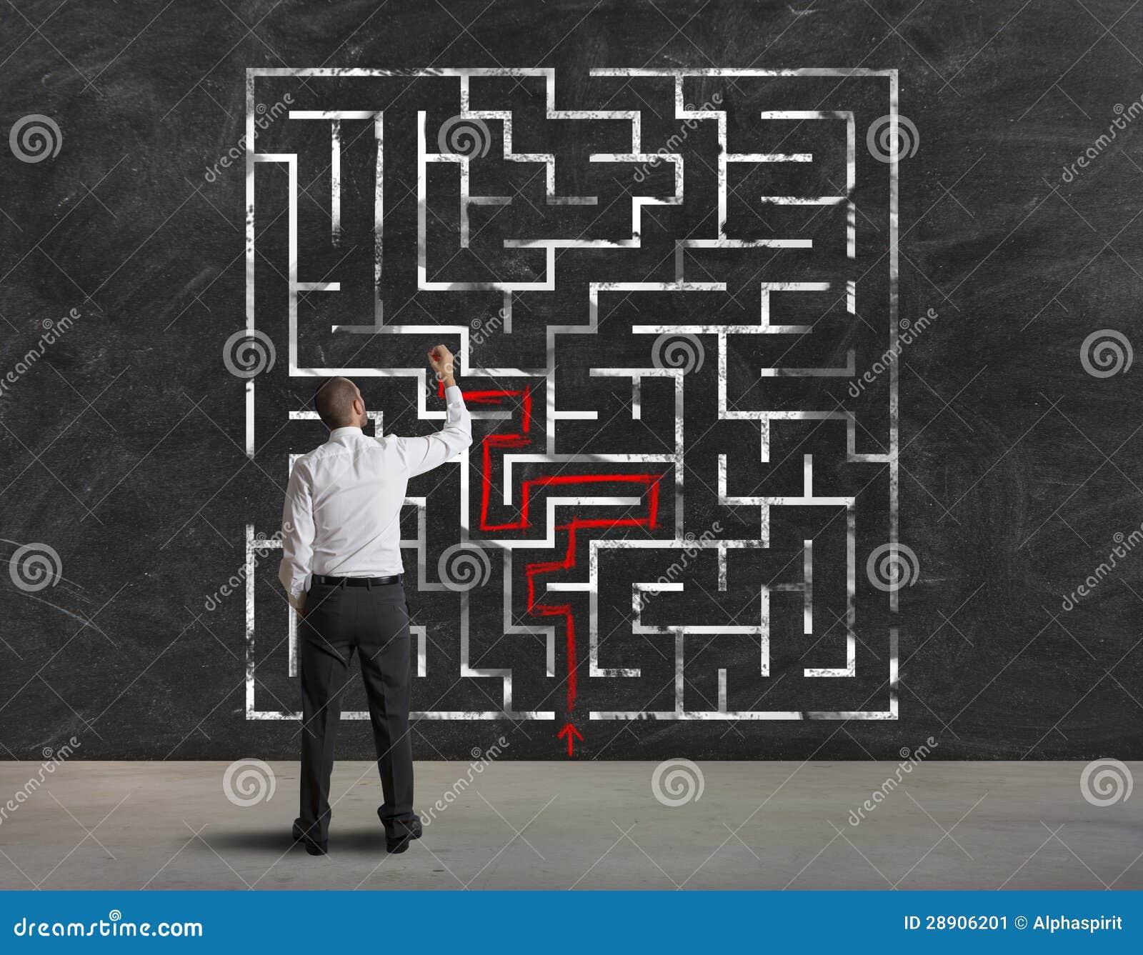 Individuazione della soluzione di labirinto