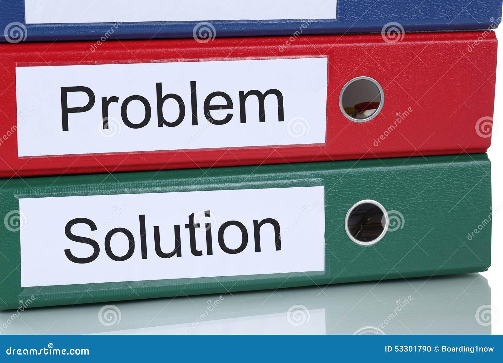 Individuazione della soluzione per il concetto di affari di problema in ufficio