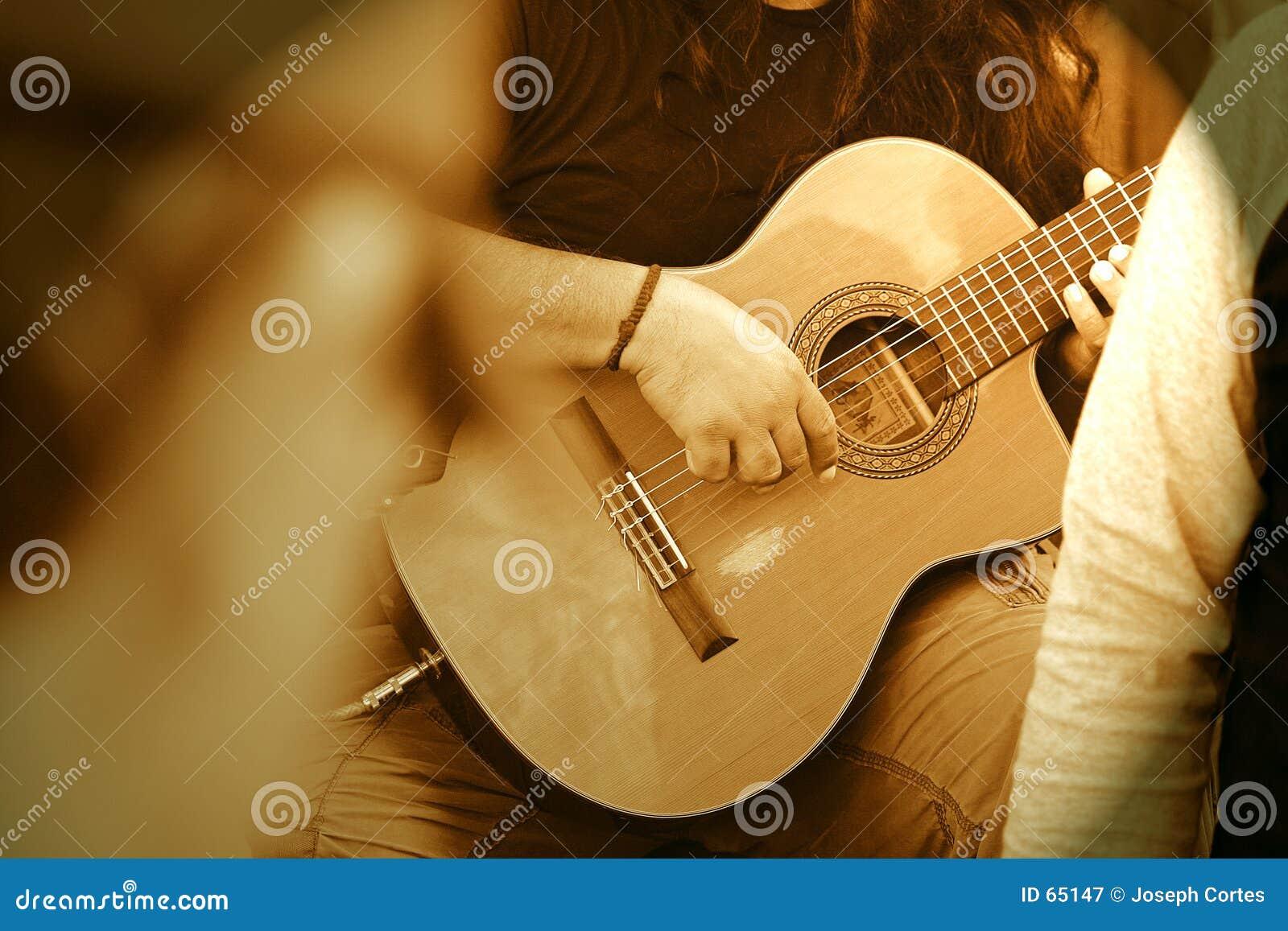 Individuo de la guitarra