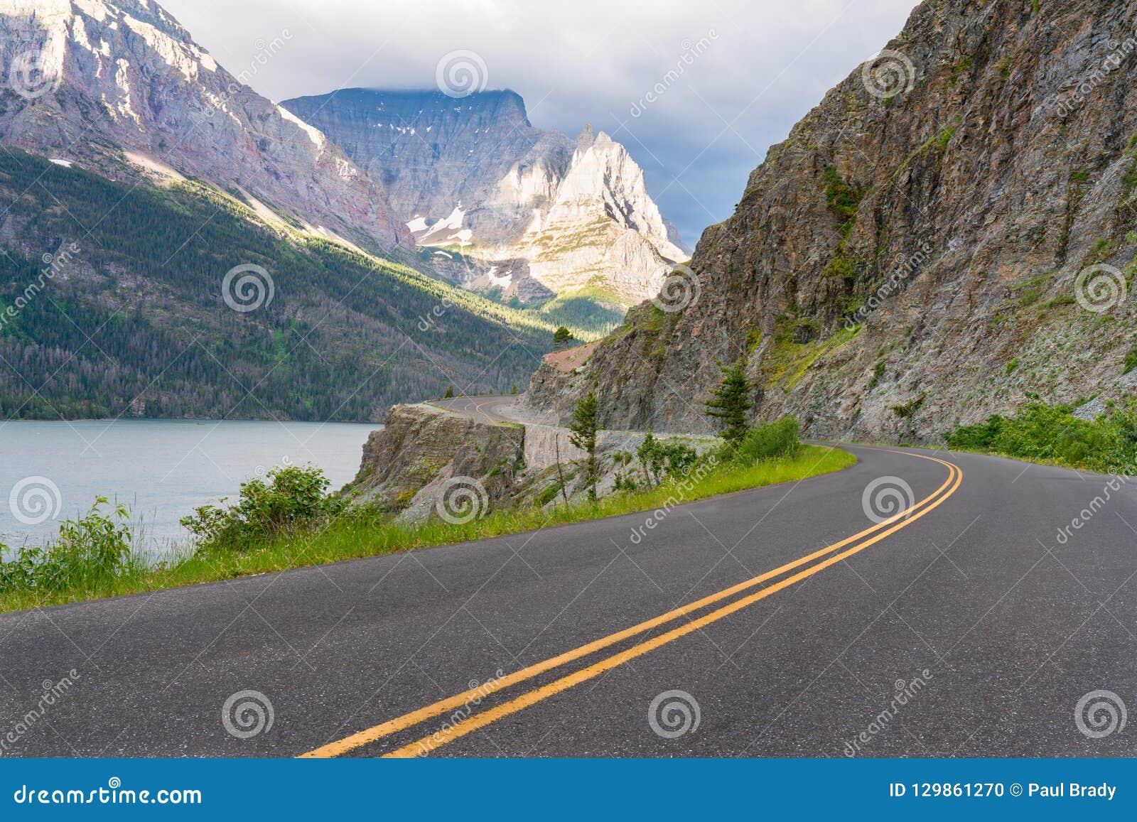 Indo à estrada de Sun, Montana