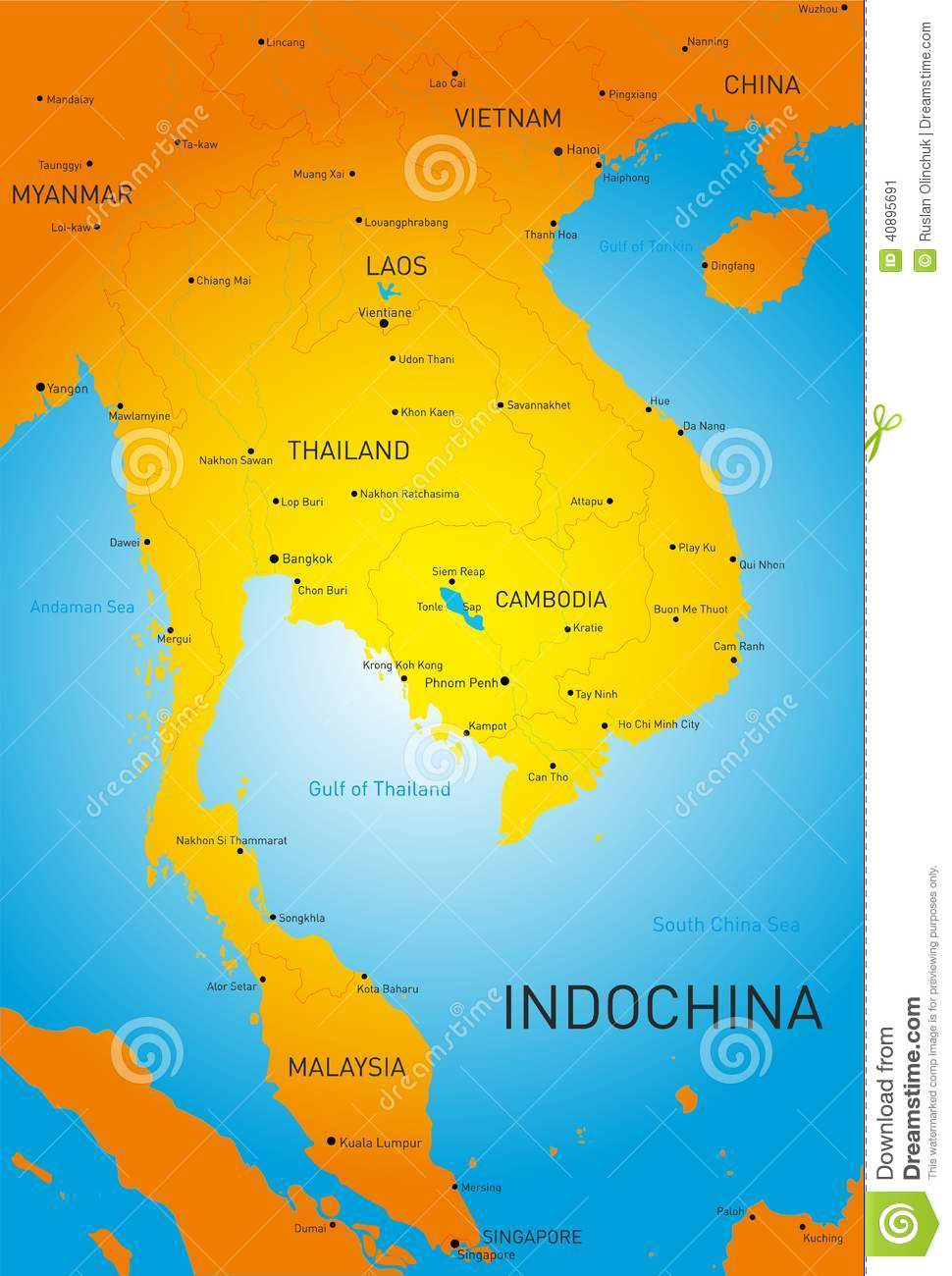 Indochina Stock Vector - Image: 40895691