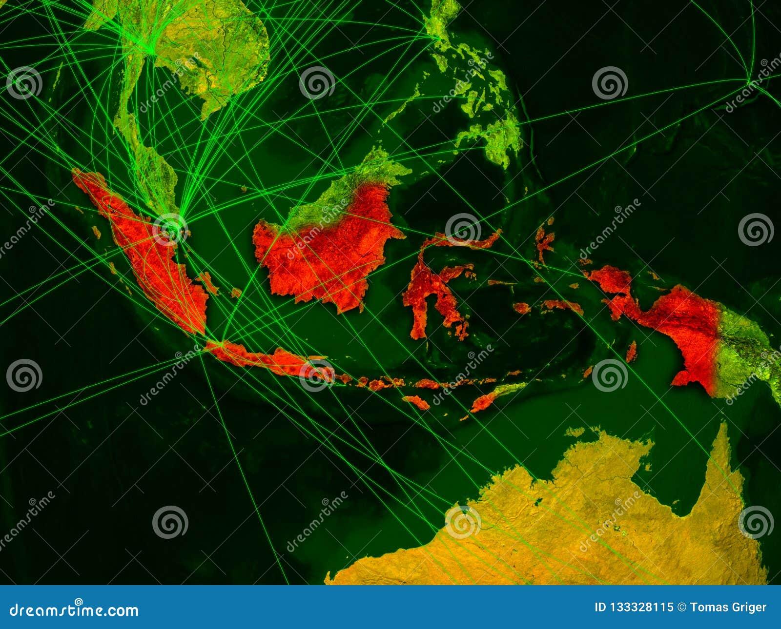 Indonésia no mapa digital