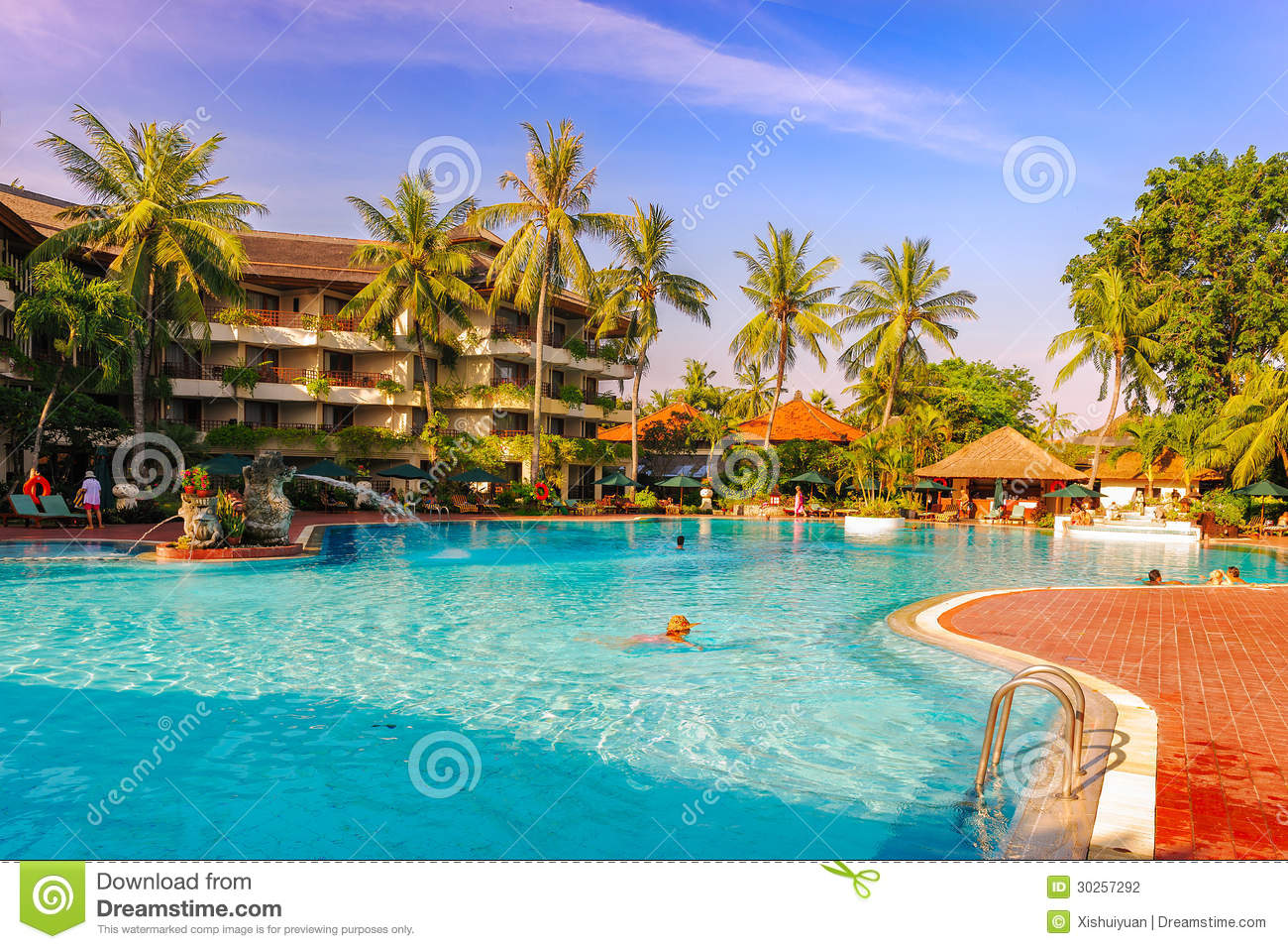 The Five Star Hotel Swimming Pool Stock Photo Image Of
