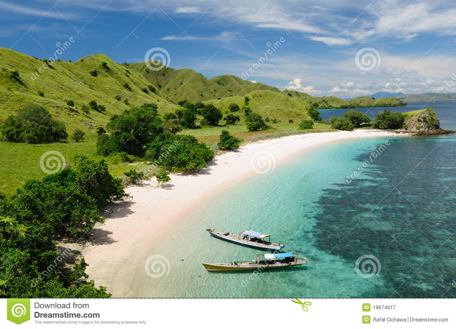 Indonesia Flores Komodo National Park Royalty Free Stock