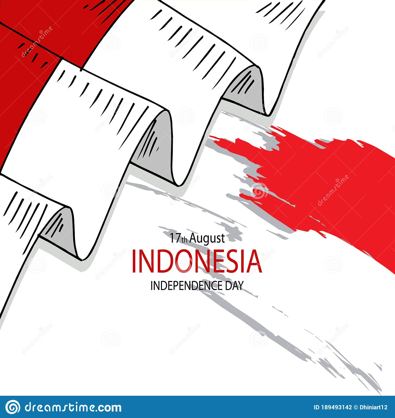 indonesia happy independence day greeting card stock
