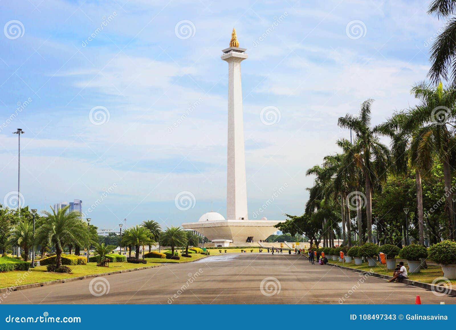 Indonesia. Jakarta. The national monument Monas