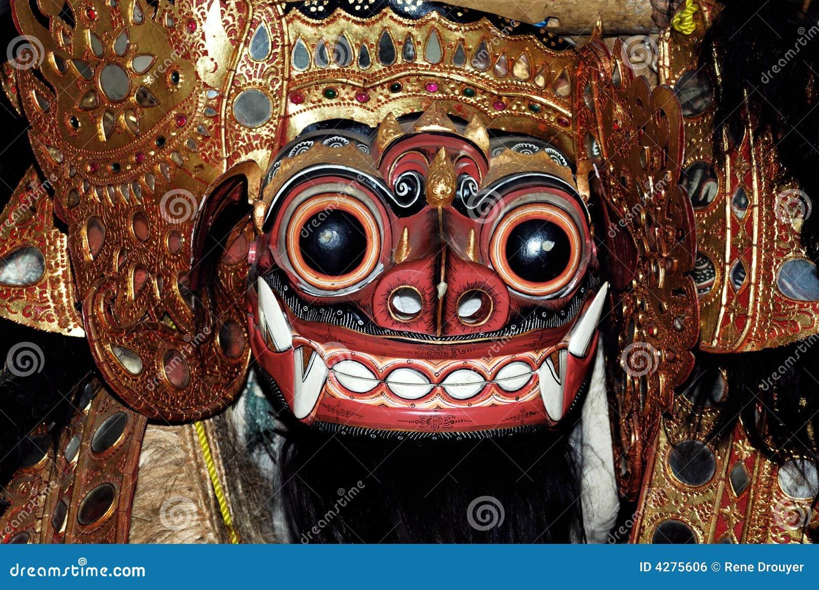 indonesia  java  bali  mask royalty free stock image