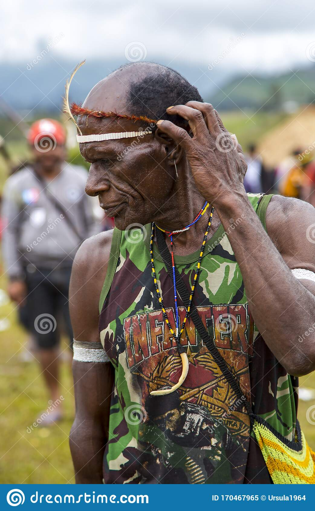 Old man in Papua New Guinea - Stock Editorial Photo