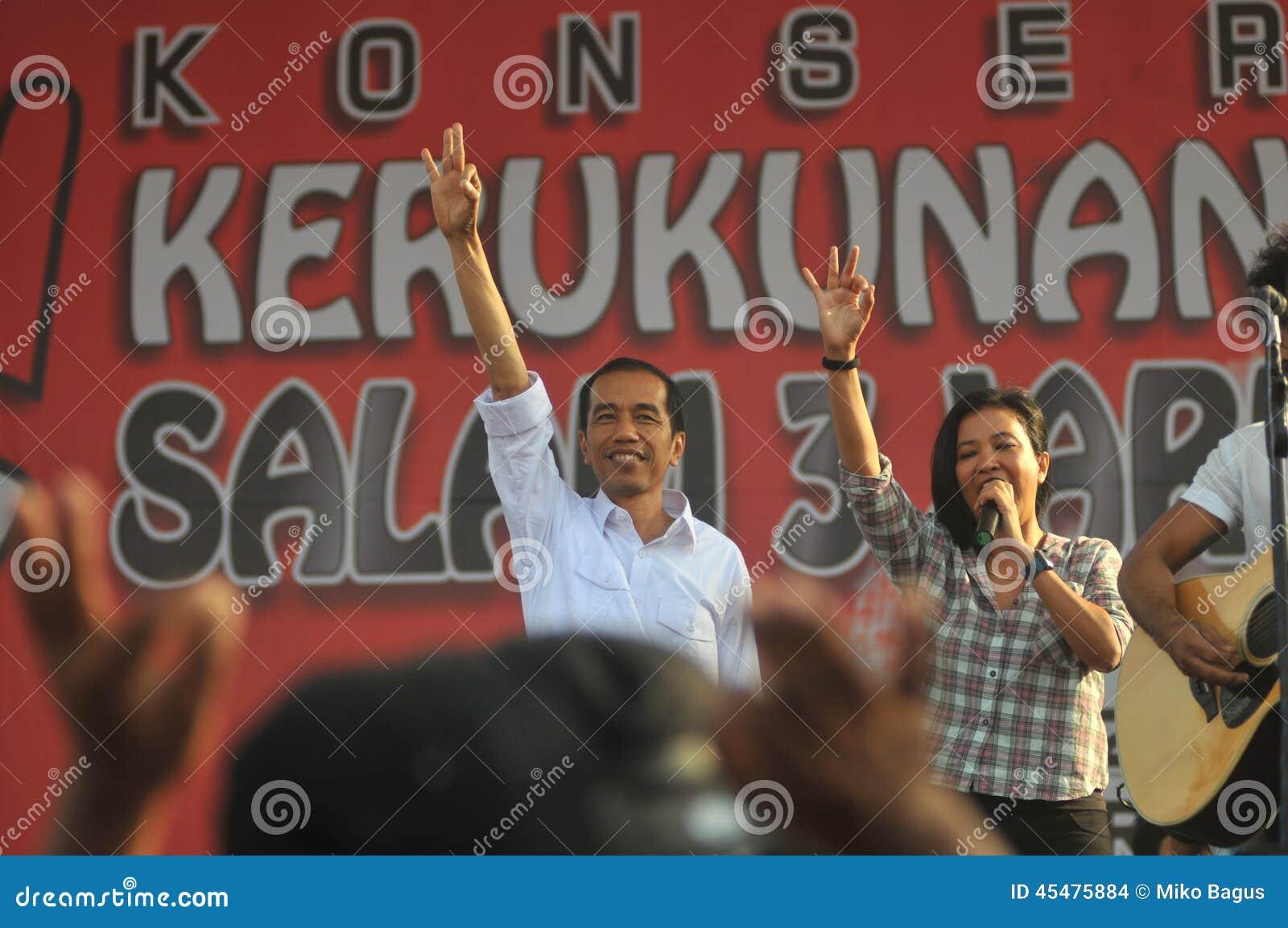 Indonesia Politics - A concert to celebrate The victory of Joko Widodo as presiden-elect