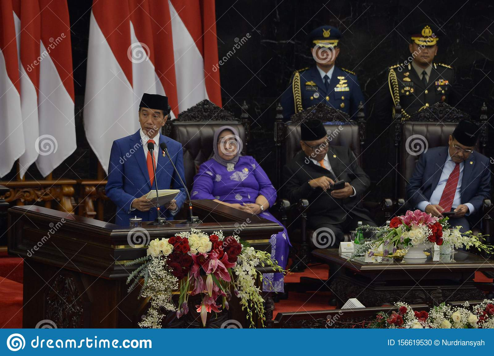 Indonesia & President Joko Widodo gives his state-of-the-nation address at a general assembly at parliament in Jakarta