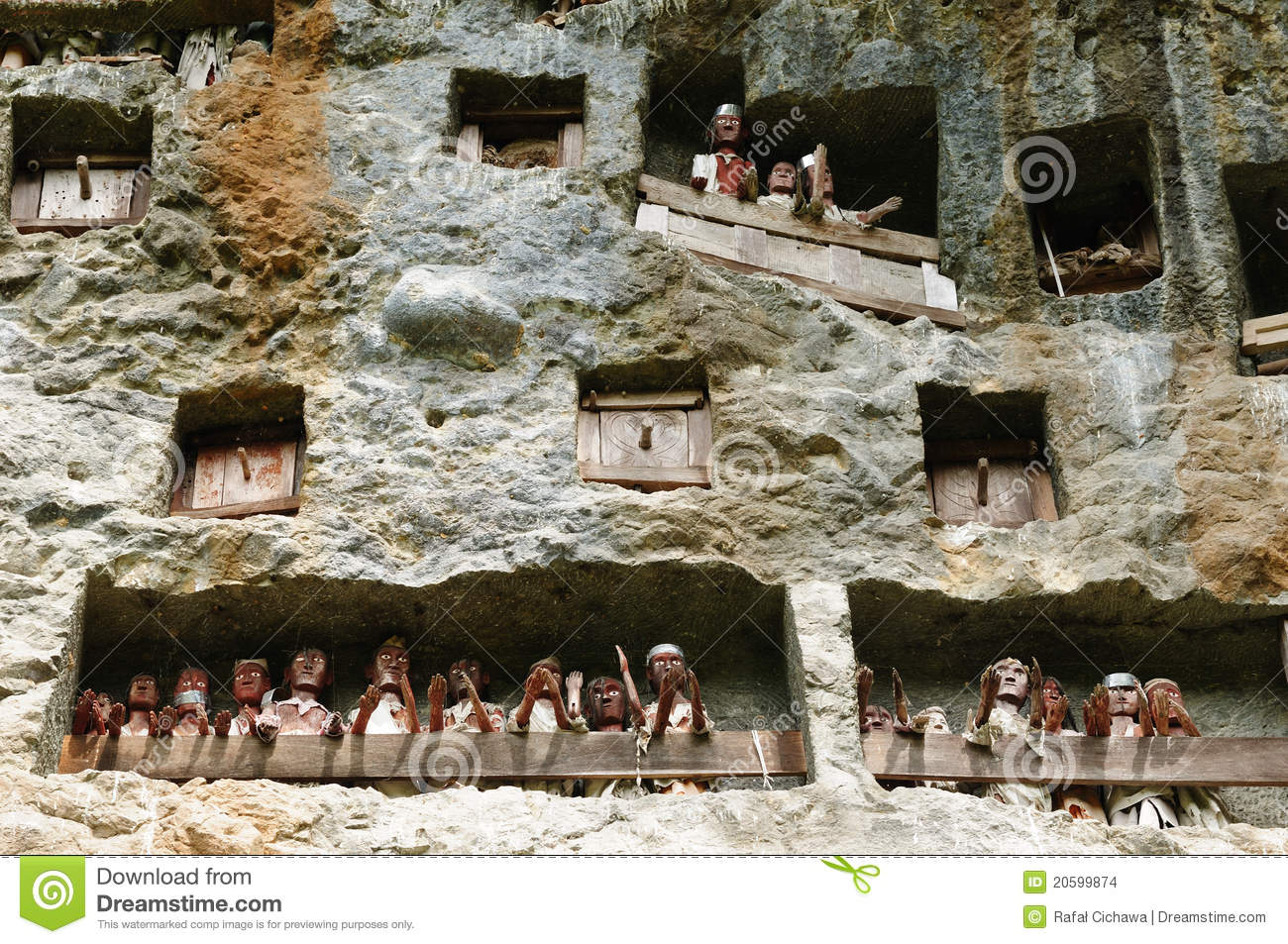 Download Indonesia, Sulawesi, Tana Toraja, Ancient Tomb Stock Photo - Image of asia, piles: 20599874