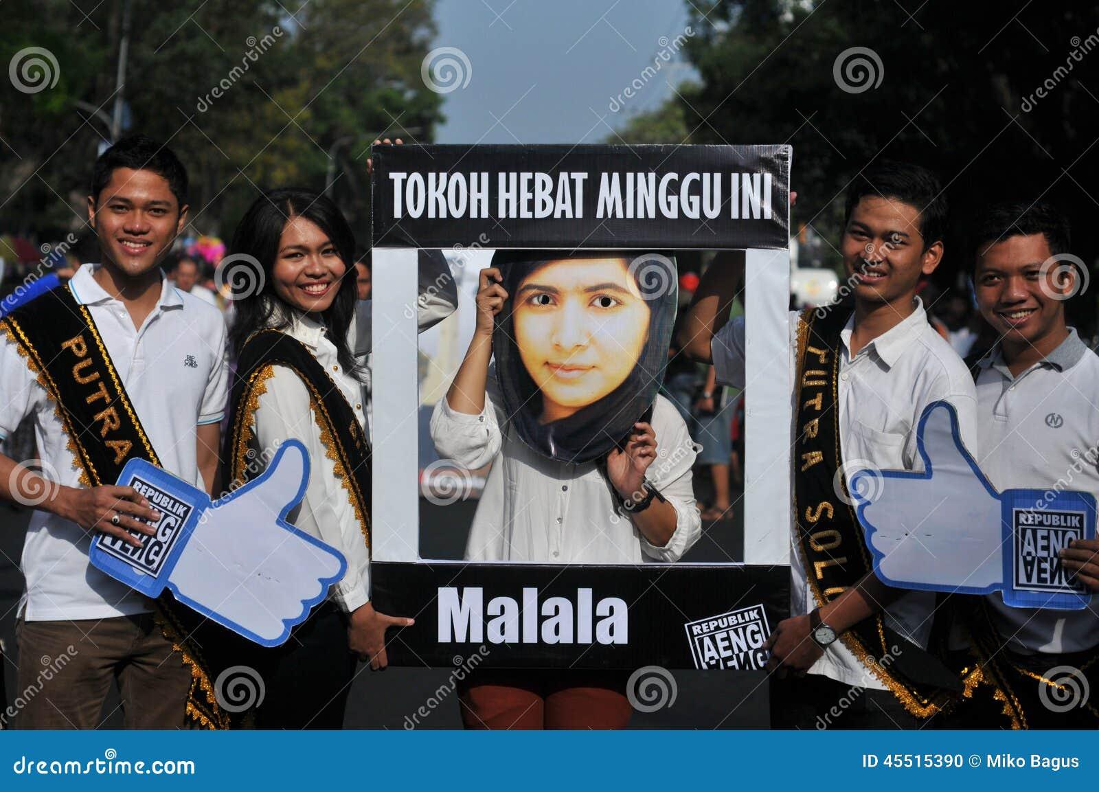 An Indonesian Activists Celebrate Malala Yousafzai Nobel