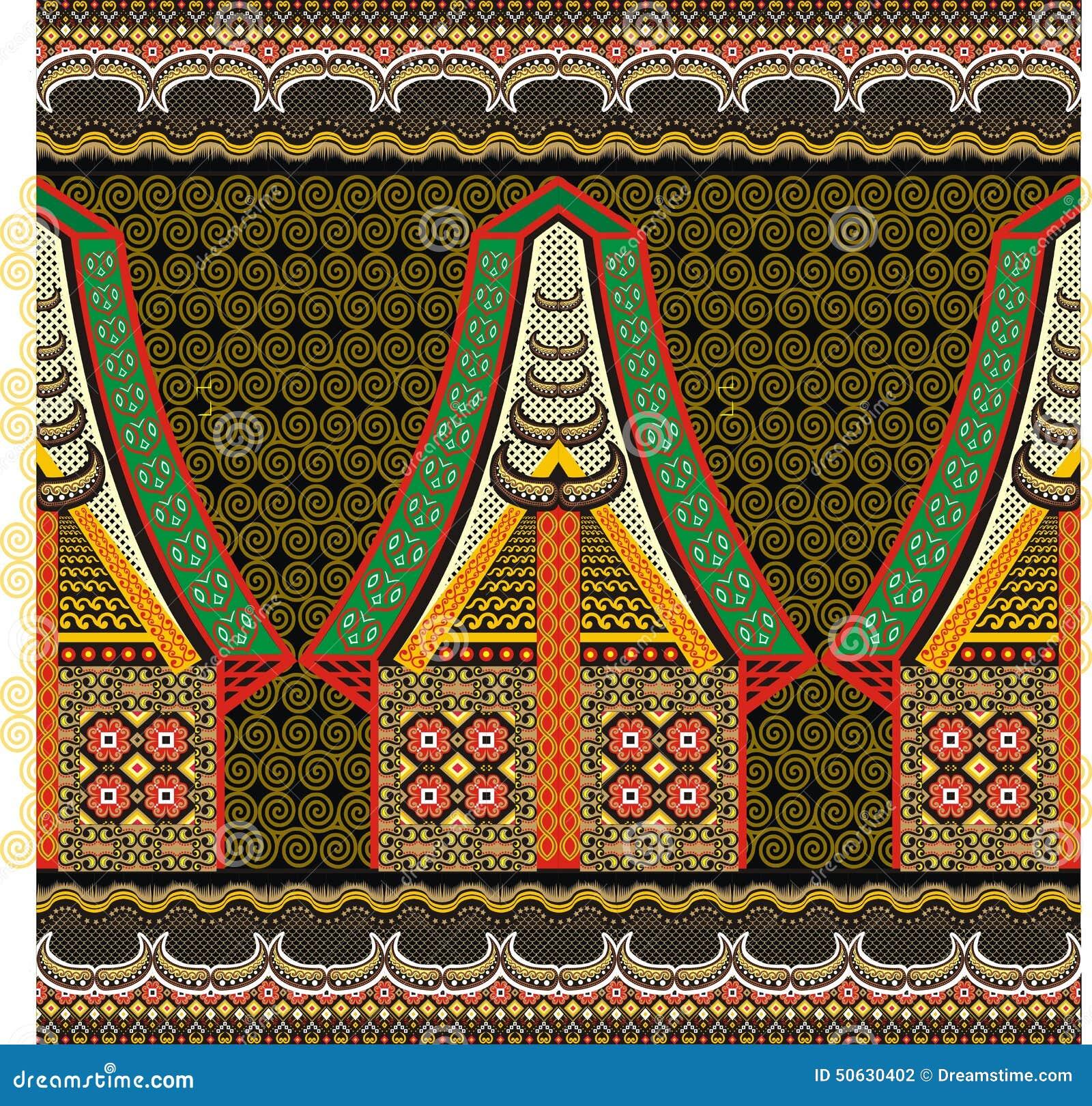 Indonesian batik motif from Toraja districk Sulawesi island.