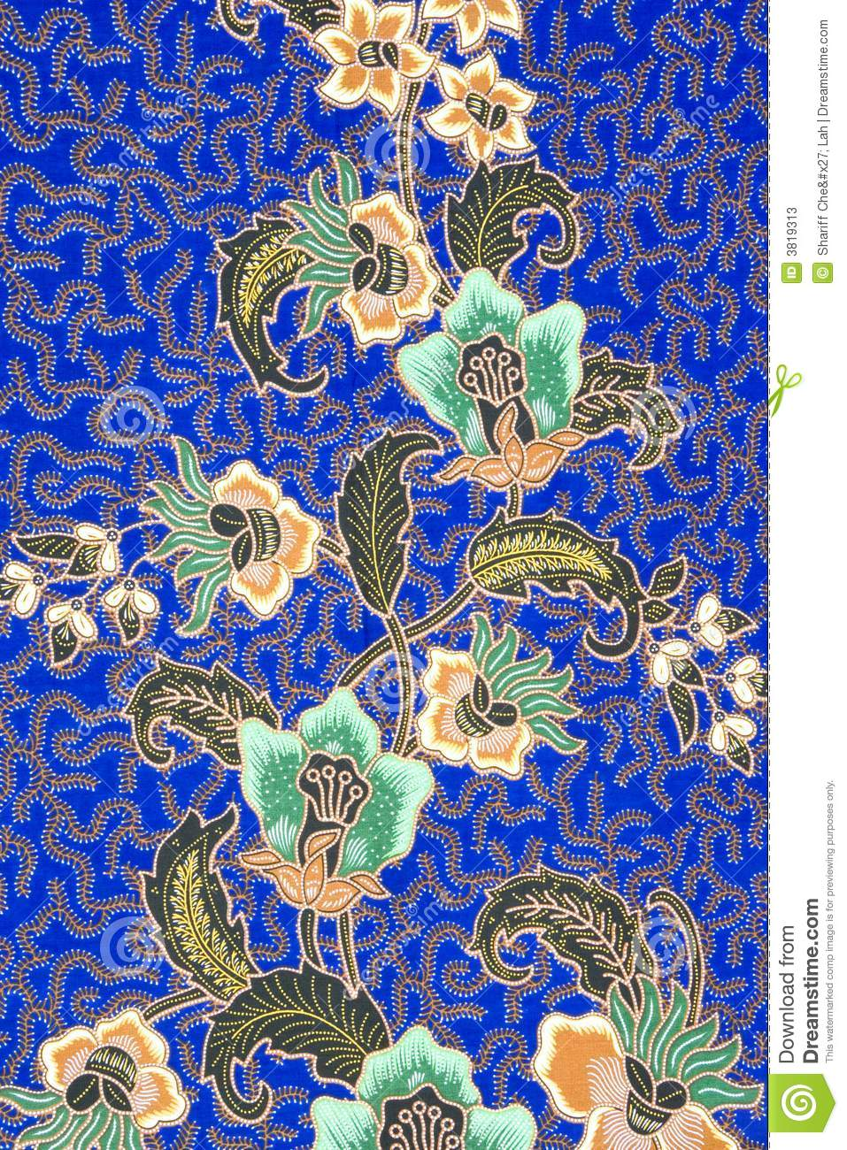 Indonesian Batik Sarong Stock Image. Image Of Woven