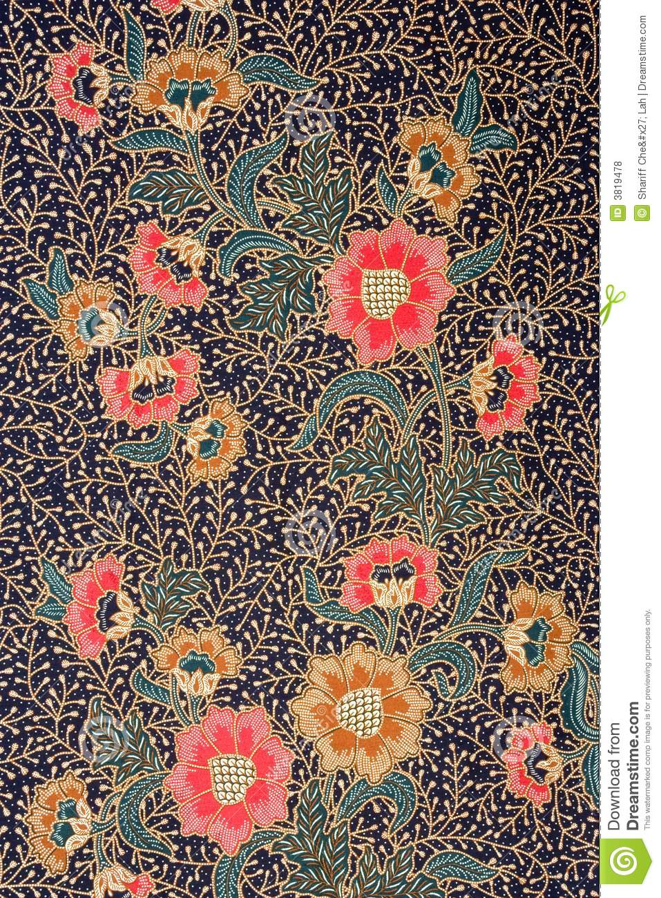 Indonesian Batik Sarong Royalty Free Stock Photos - Image: 3819478