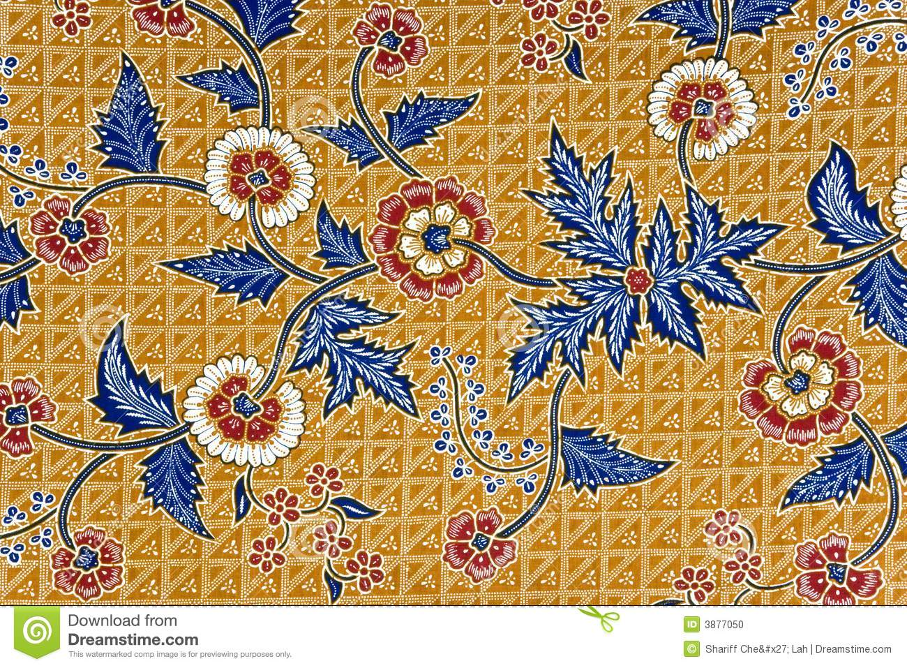 Traditional Flower Indonesian Batik Vector Illustration Pictures