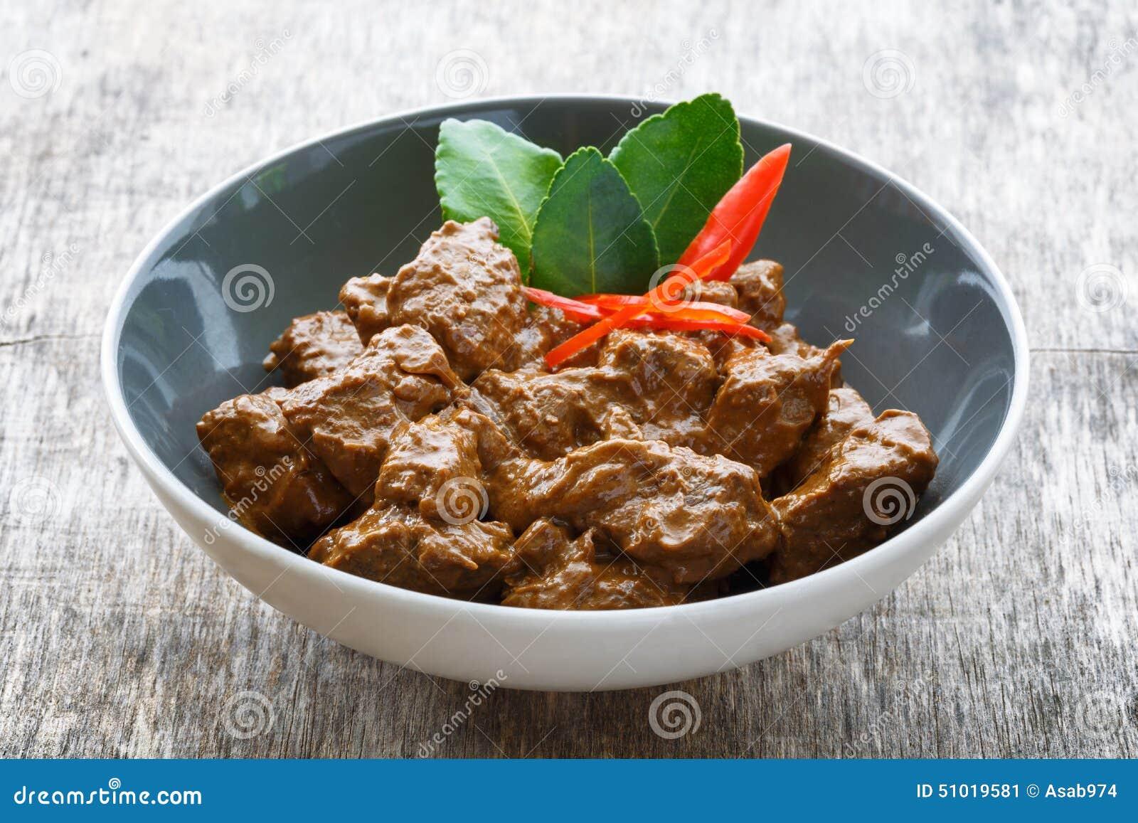 Indonesian Beef Rendang Stock Image