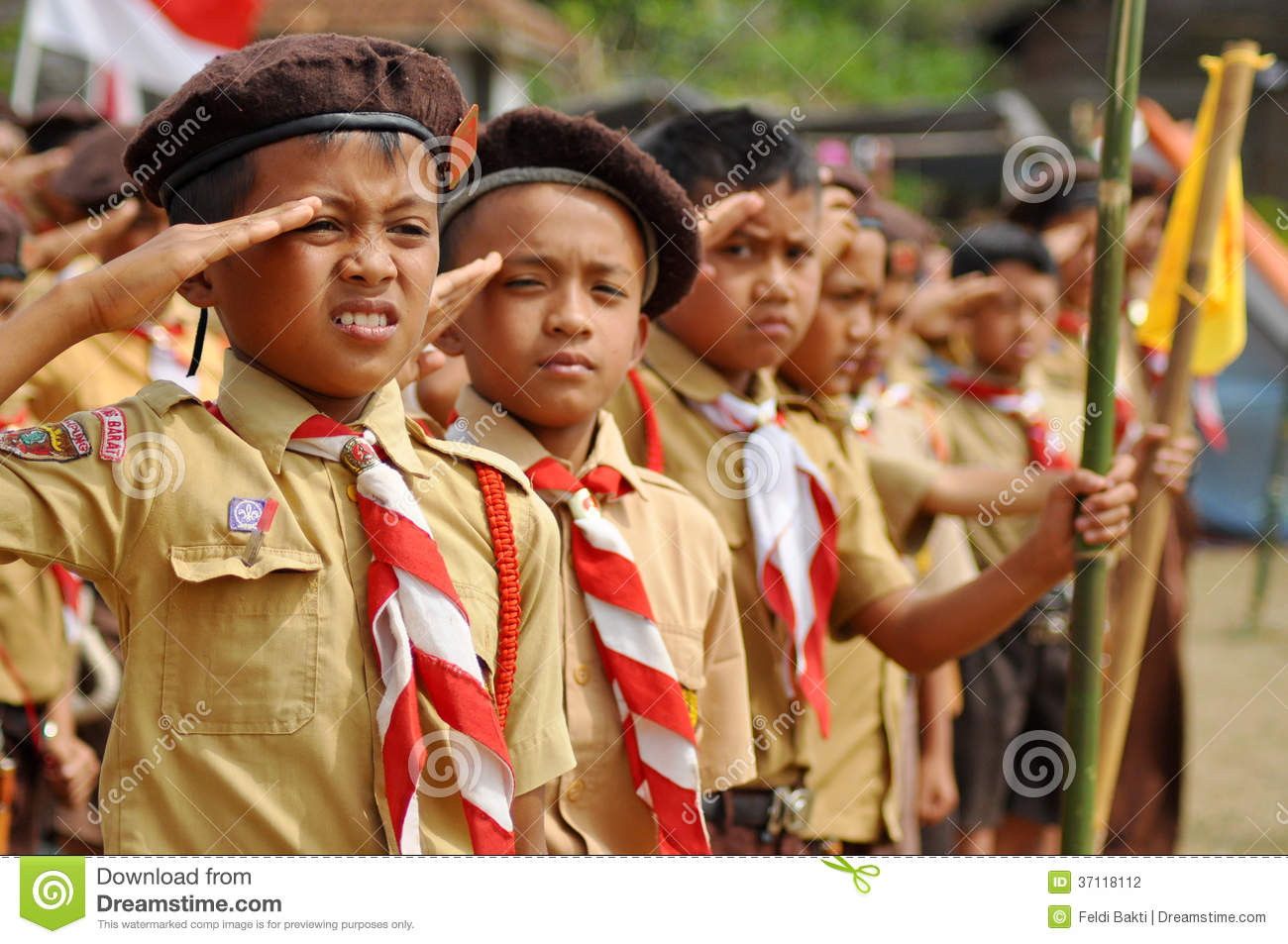 Matt The Scout Boy Credits Version 2: Indonesian Boy Scouts Editorial Photography
