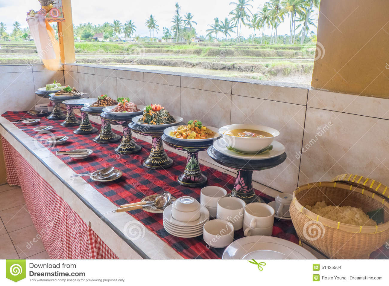 Indonesian buffet & Indonesian buffet stock photo. Image of buffet sate - 51425504