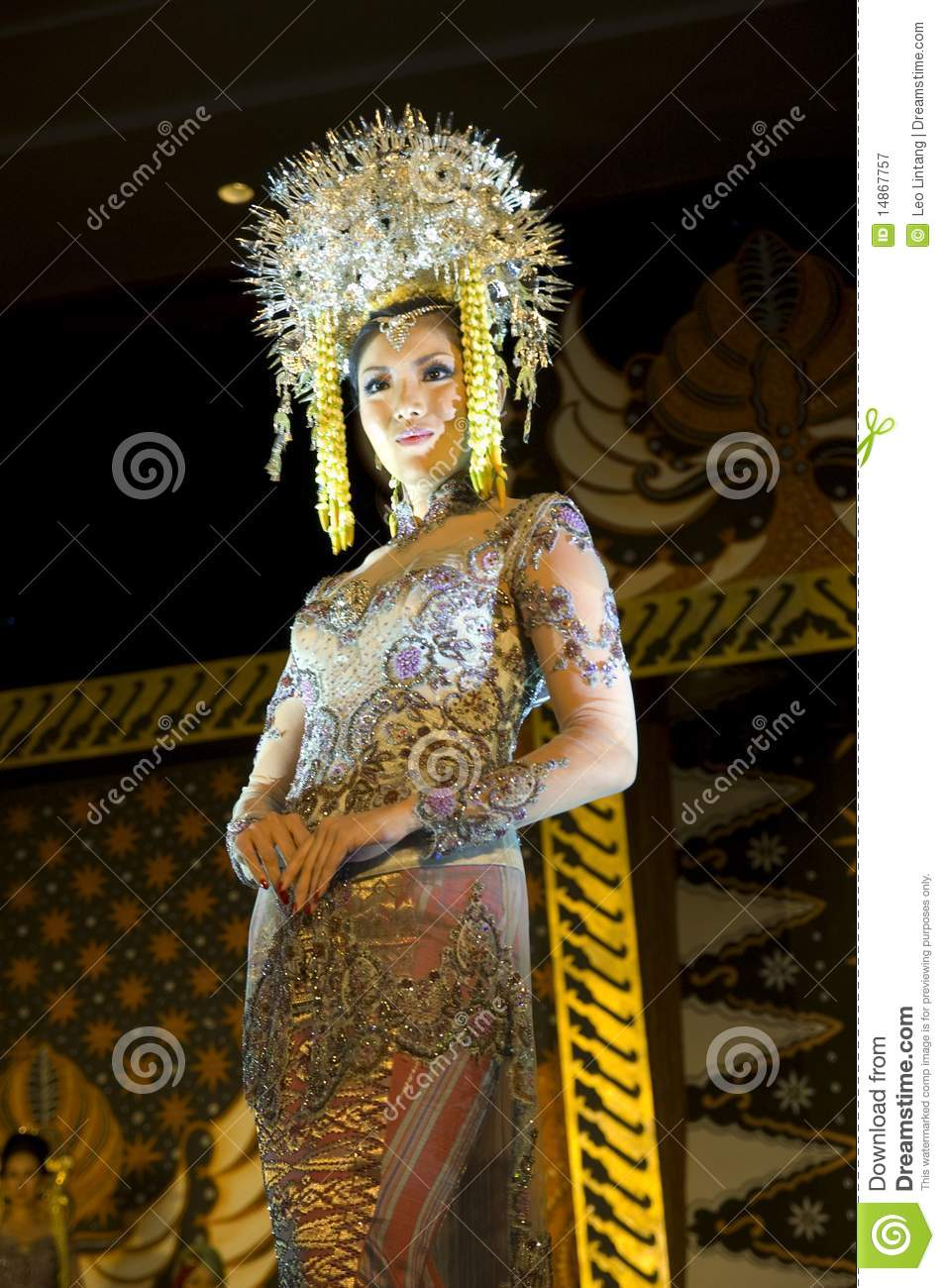 Indonesian Culture Fashion Show Editorial Photography  Image of luxury, fashion: 14867757