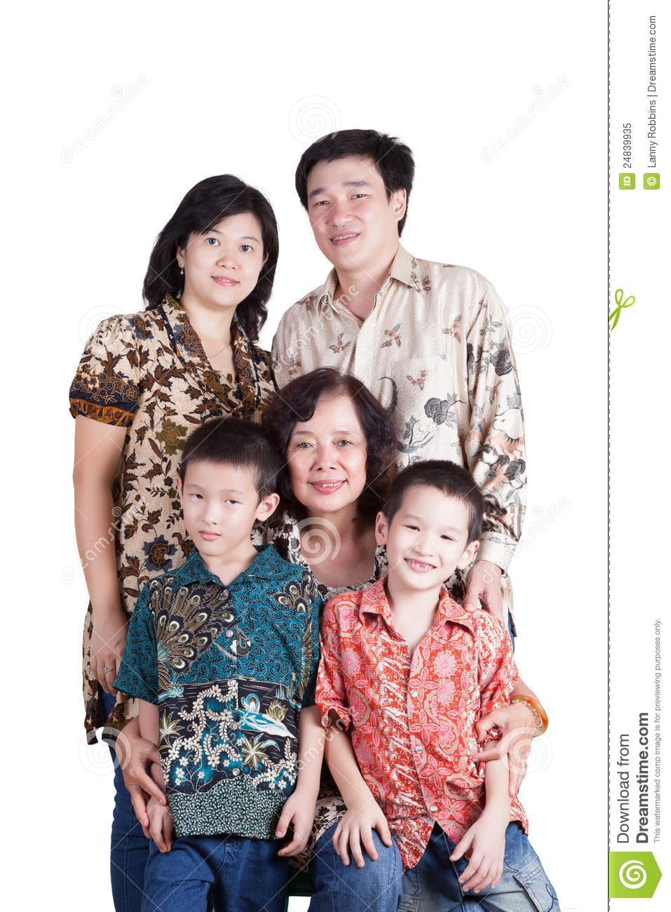 Indonesian Family stock image. Image of three, isolated  24839935