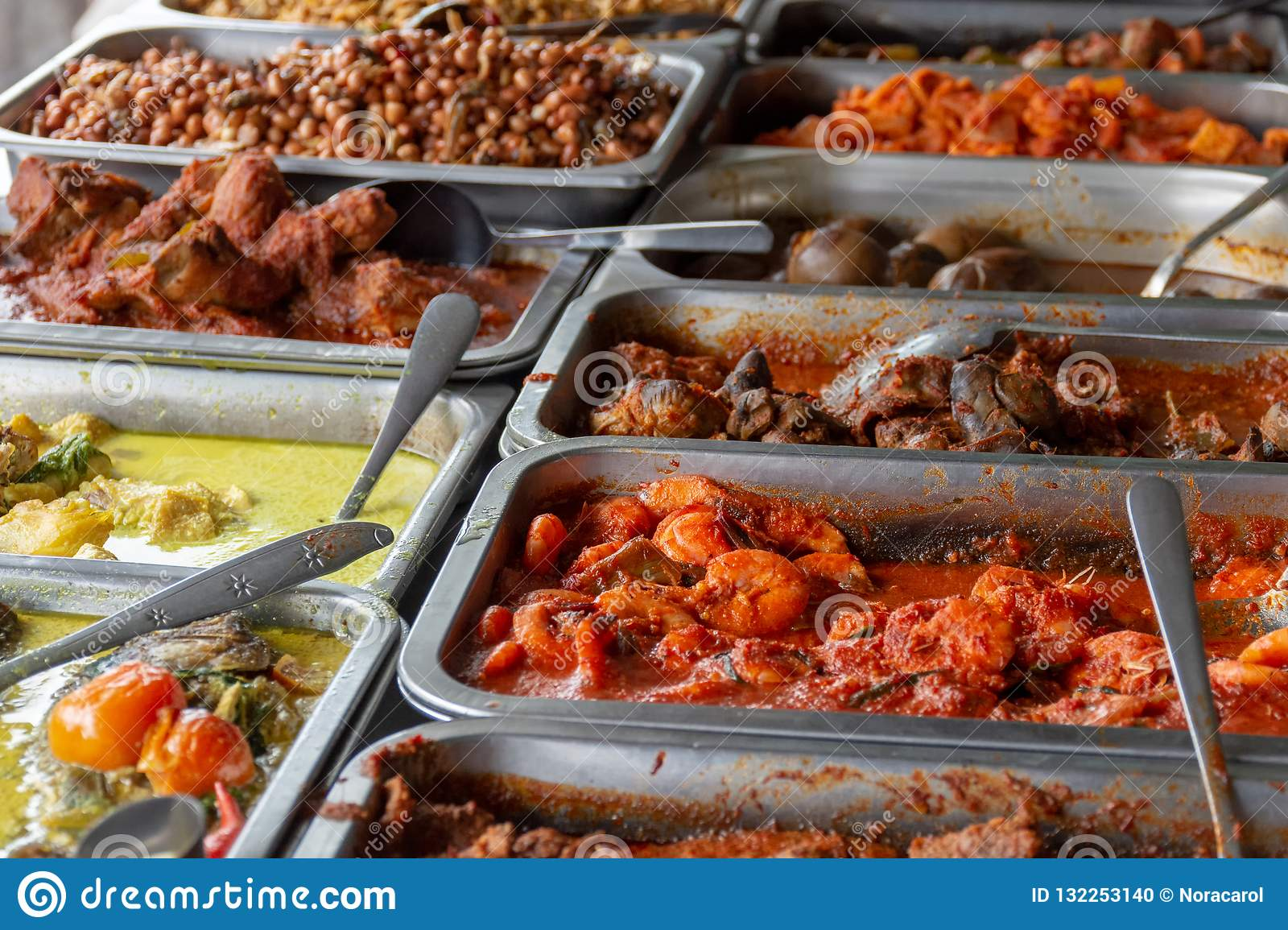 Incredible Indonesian Food Buffet Stock Photo Image Of Asian Cooking Download Free Architecture Designs Scobabritishbridgeorg