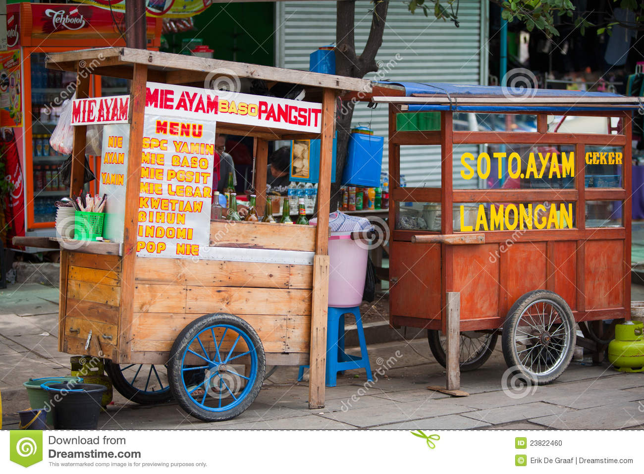 Indonesian Food Stalls Editorial Image Image Of Drinks 23822460