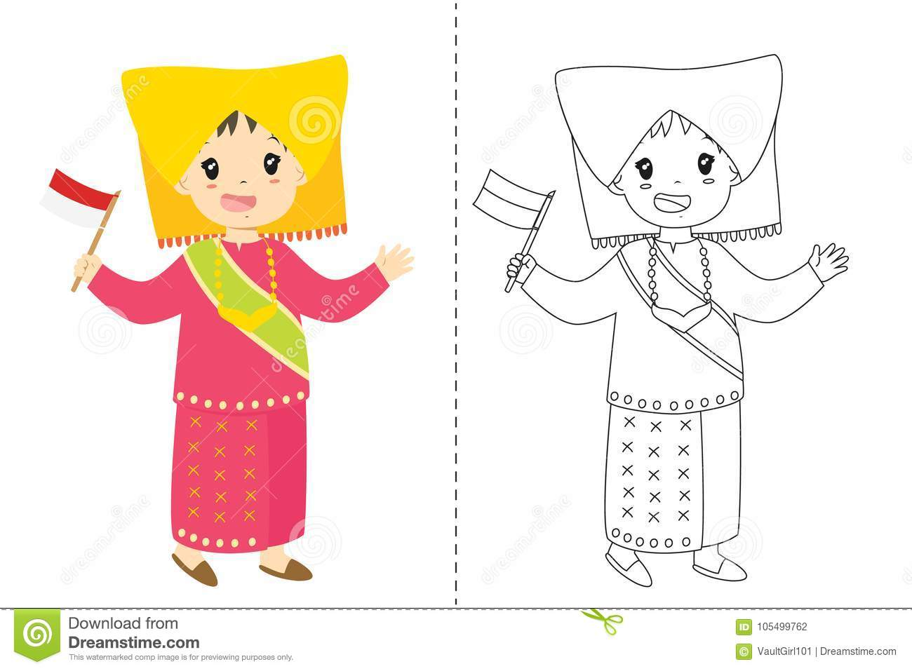 indonesian coloring pages - photo#43