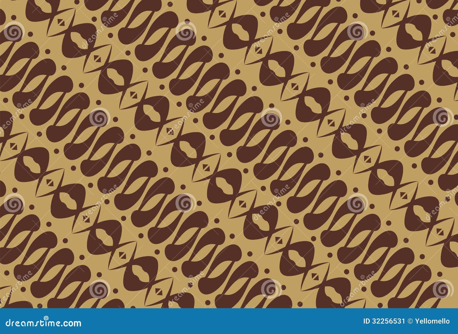 indonesian native - batik pattern stock image