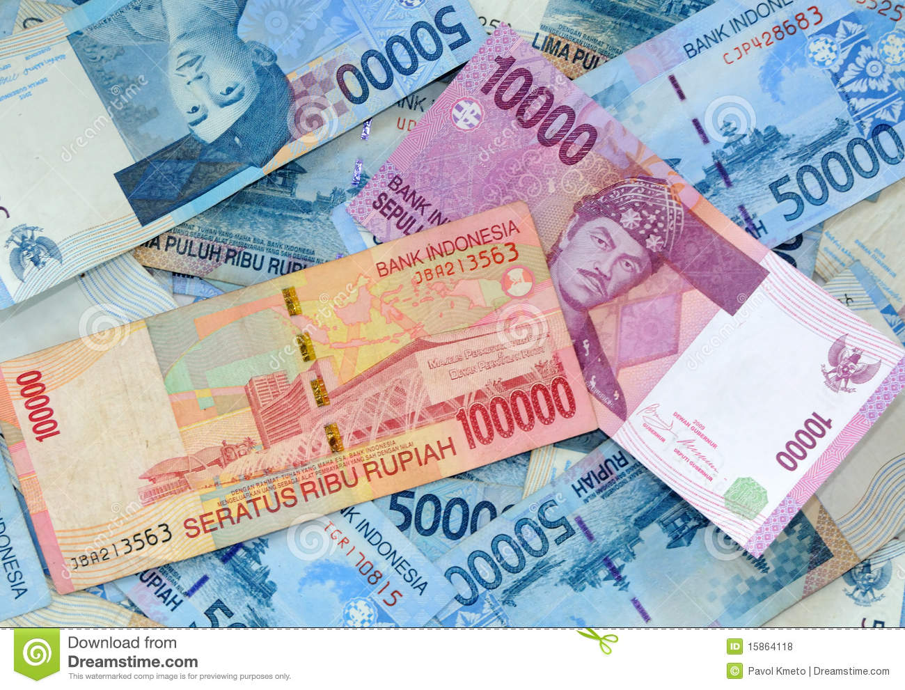 Indonesian Rupiah Stock Photo Image Of Financial Clipping 15864118