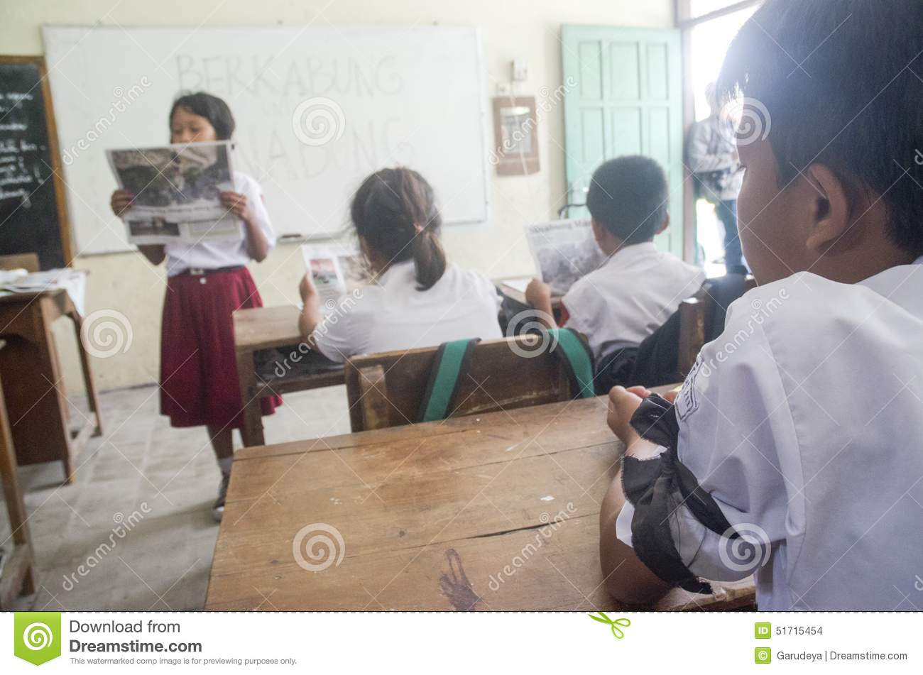 INDONESIAN SCHOOL LACK OF ELECTRICITY Editorial Stock Image - Image