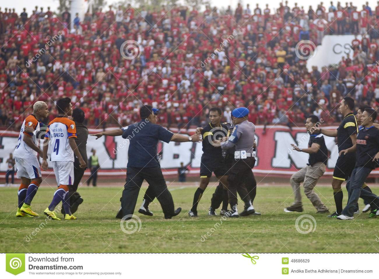 INDONESIAN SOCCER TROUBLES Editorial Stock Image - Image ...