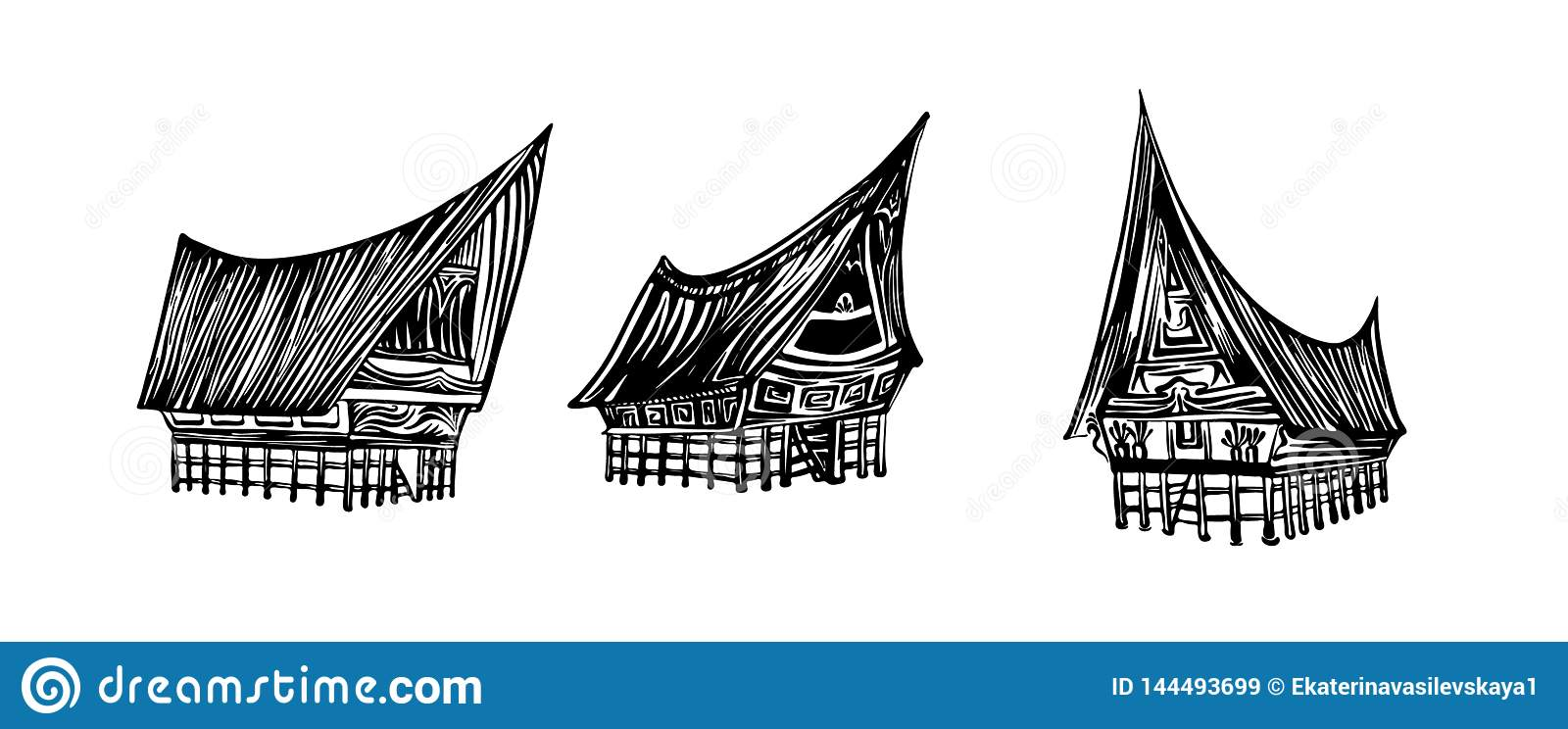 indonesian traditional batak house set hand drawn outline sketch vector black ink drawing isolated on white background graphic stock vector illustration of architecture indonesian 144493699 https www dreamstime com indonesian traditional batak house set hand drawn outline sketch vector black ink drawing isolated white background graphic image144493699