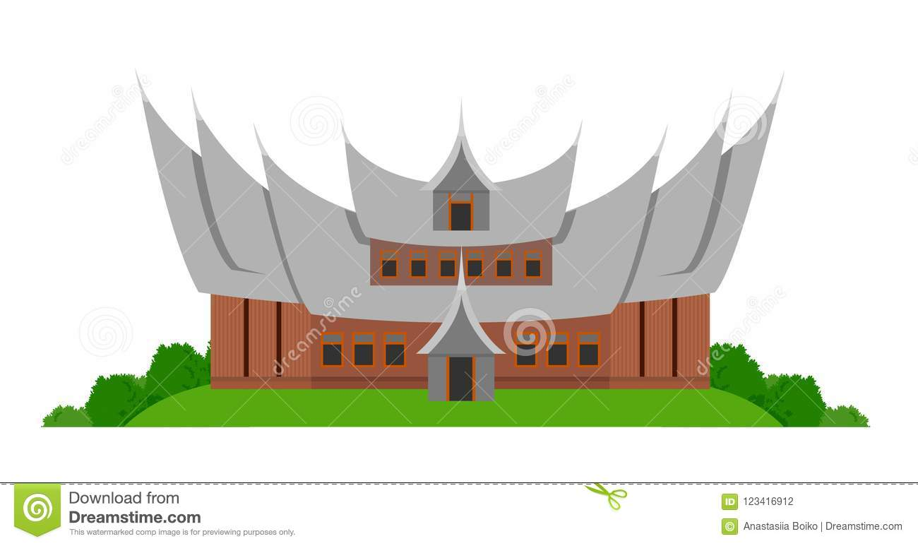 indonesian traditional house stock vector illustration of building sight 123416912 https www dreamstime com indonesian traditional house indonesian traditional house vector flat illustration isolated white background image123416912