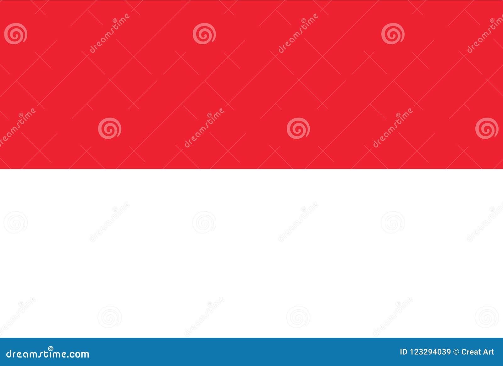 Indonesien flaggavektor Illustration av den Indonesien flaggan