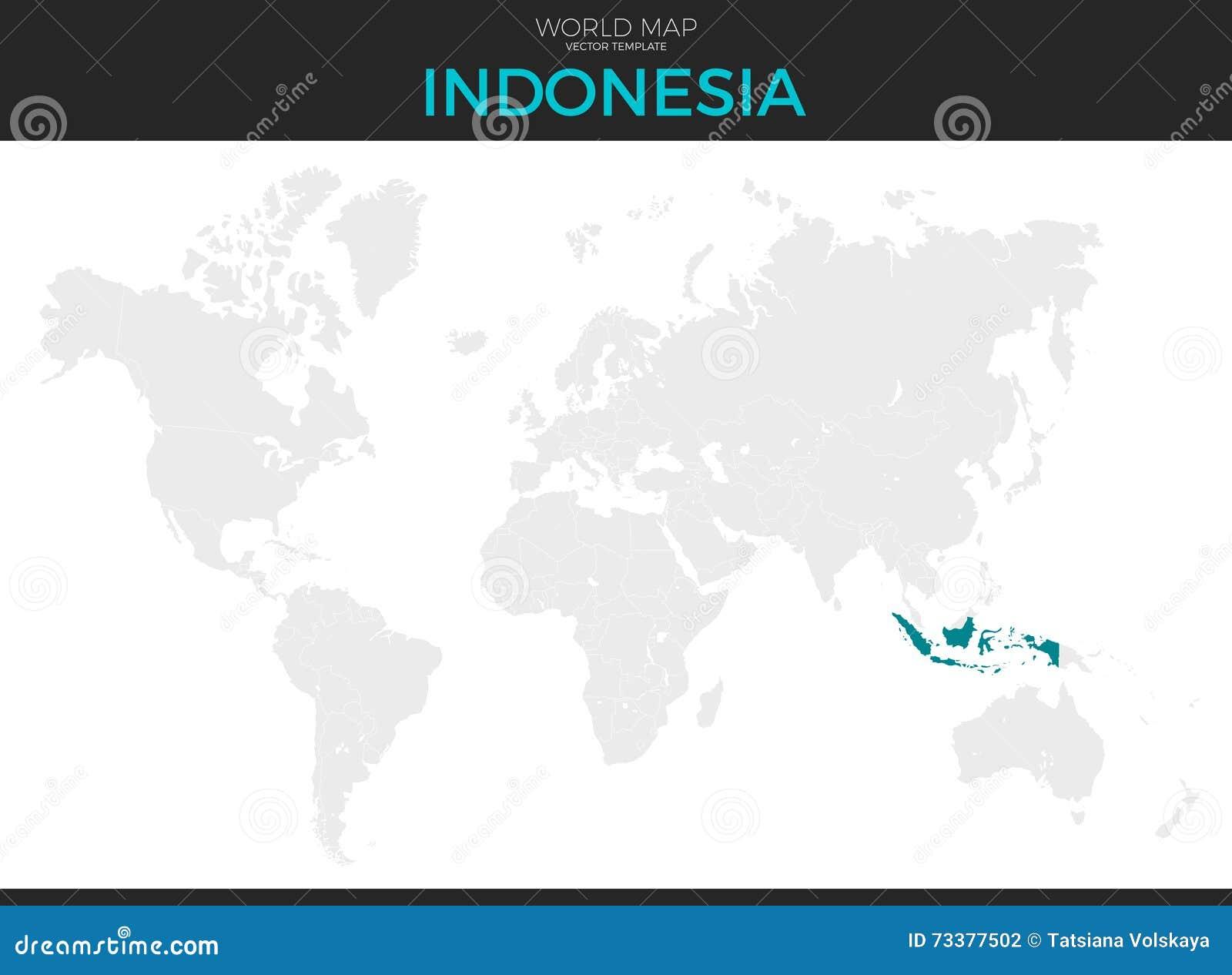 Landkarte Asien Ohne Namen.Indonesien Standort Karte Vektor Abbildung Illustration Von