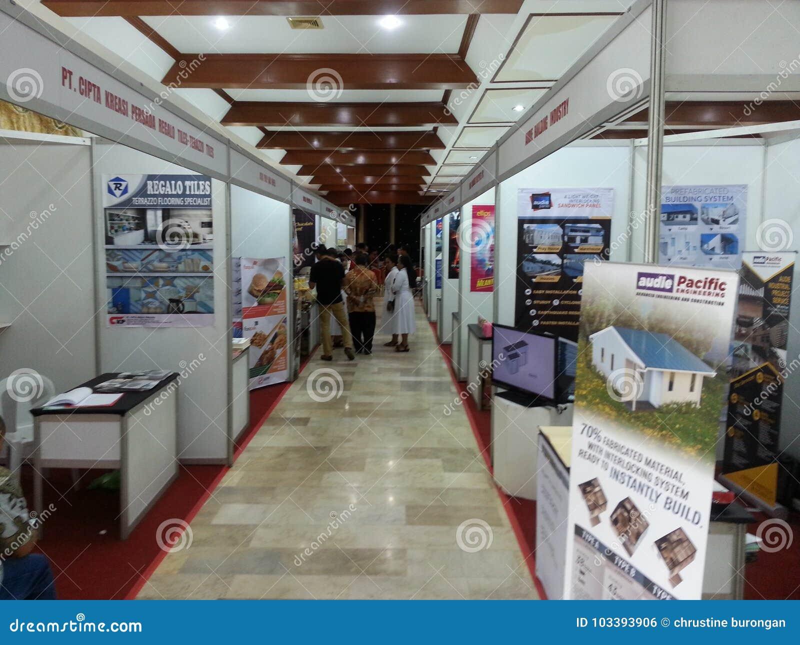 Indonesische Ausstellung 2017 am Haus von Indonesien hier an Davao-Stadt
