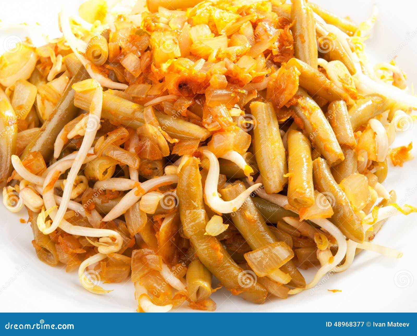 indonesische küche - bohnen mit sojasoße stockfoto - bild: 48968377 - Indonesien Küche