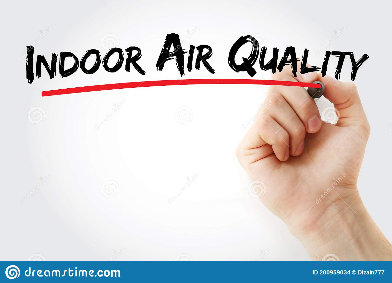 Indoor Air Quality Text With Marker Stock Photo - Image Of Pets, Building:  200959034