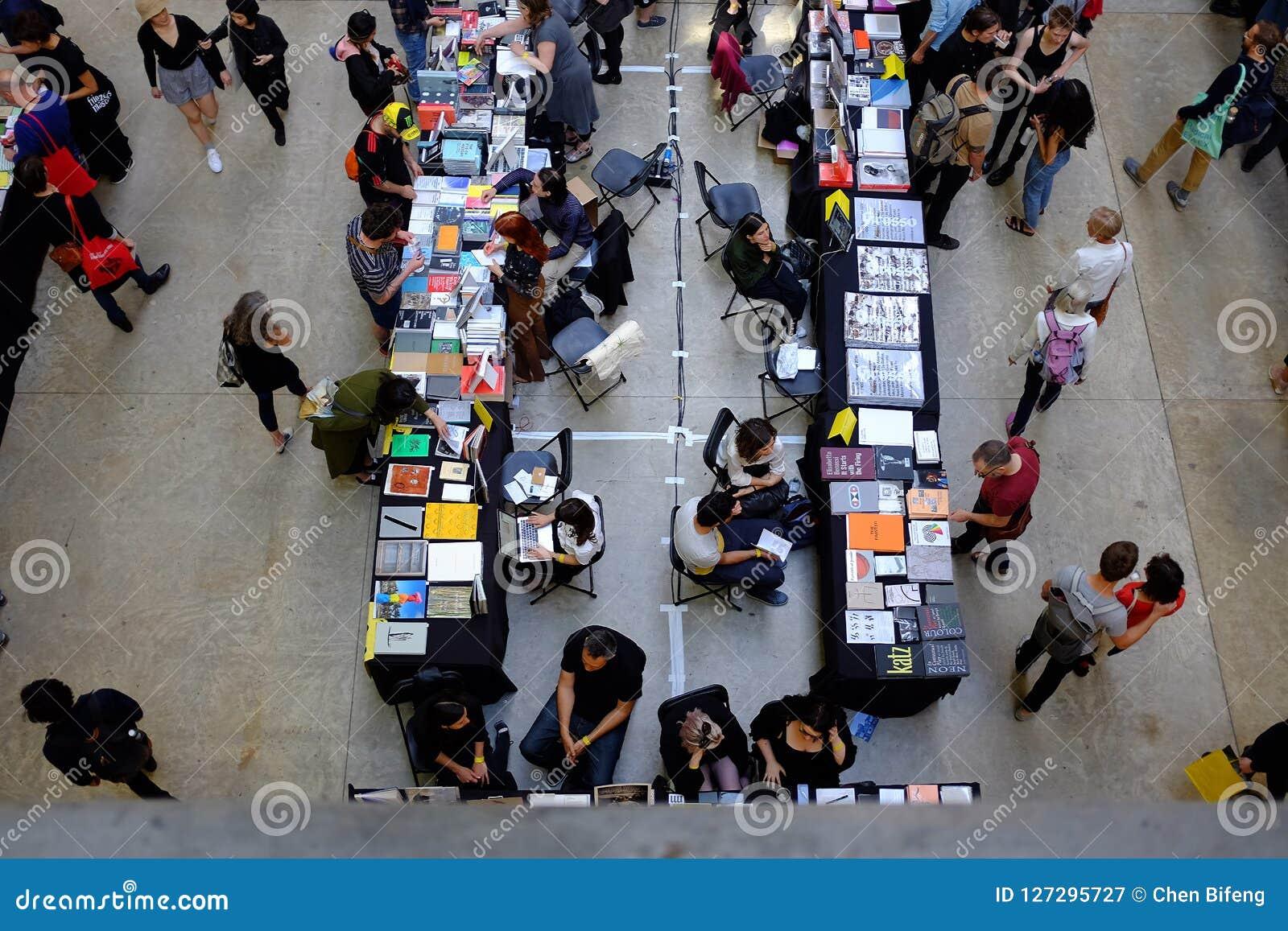 Indoor art book fair