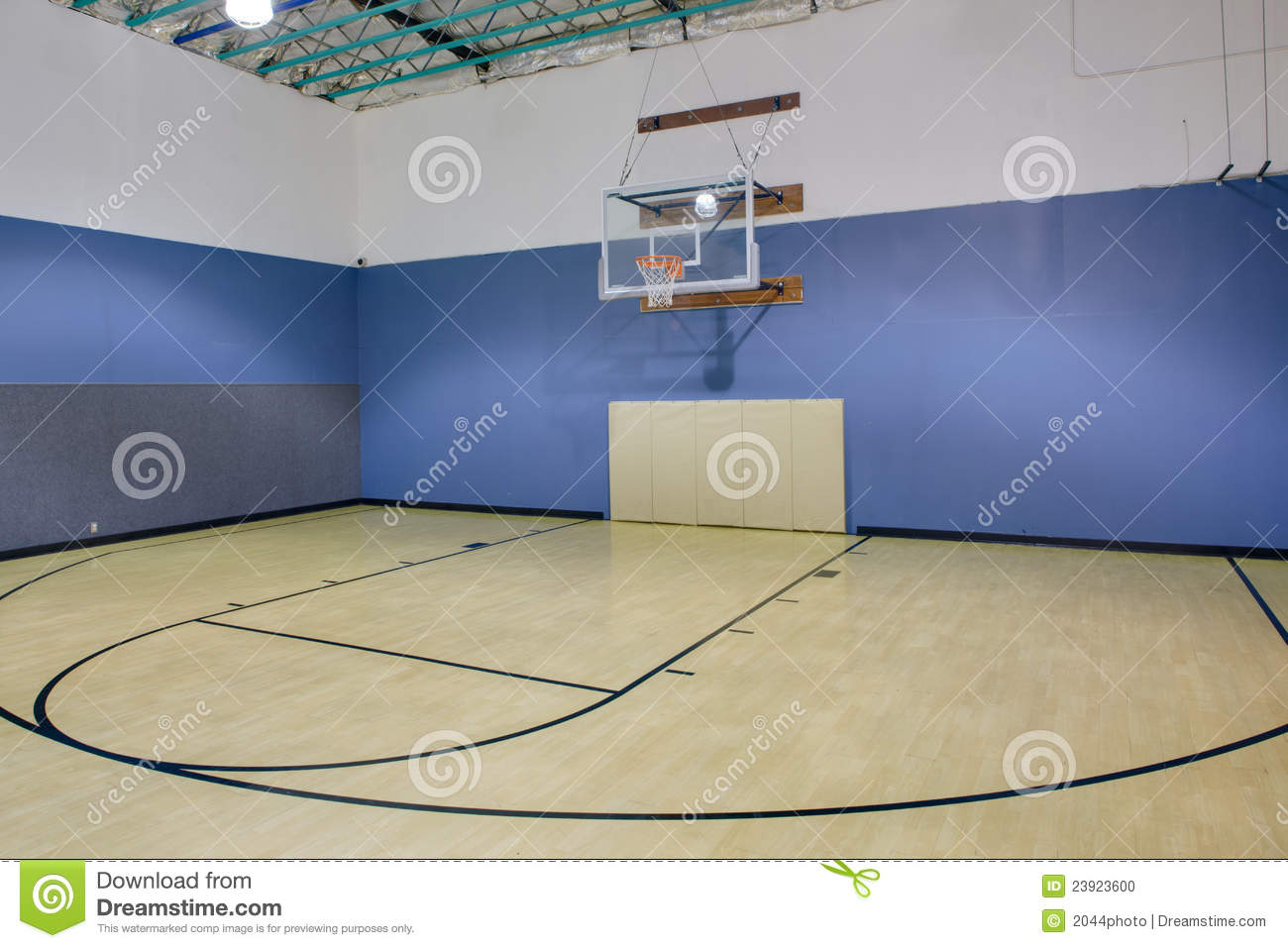 Indoor basketball court stock photo. Image of sports - 23923600