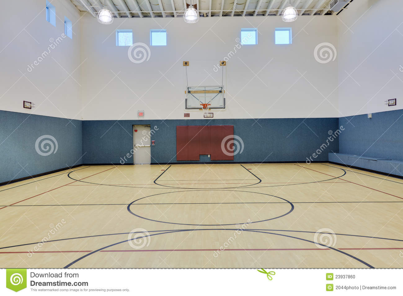 Indoor basketball court stock photo image 23937860 for Indoor basketball court cost estimate