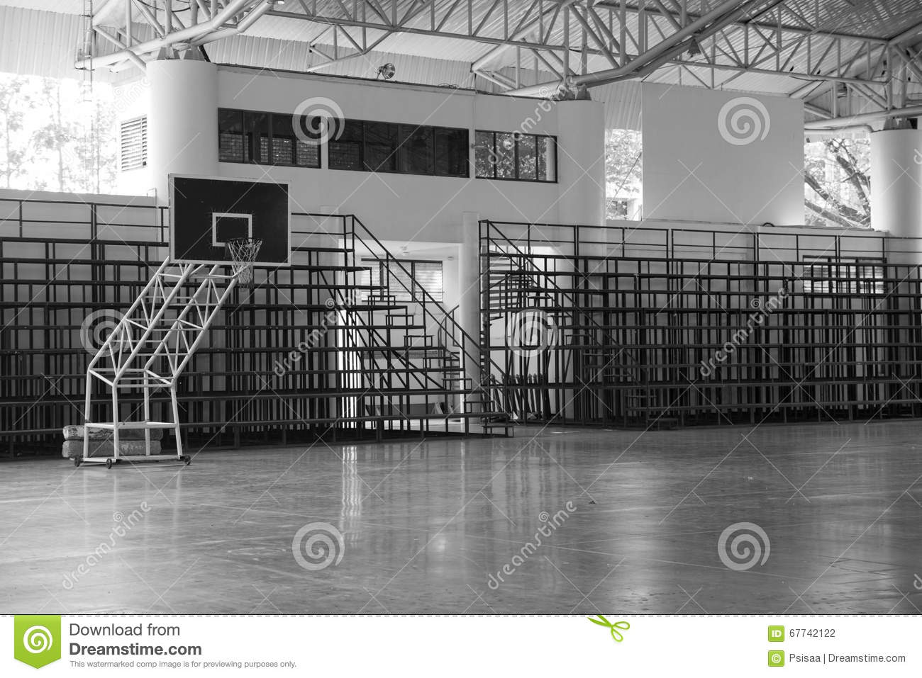 Indoor basketball court field and grandstand black and for Free inside basketball courts